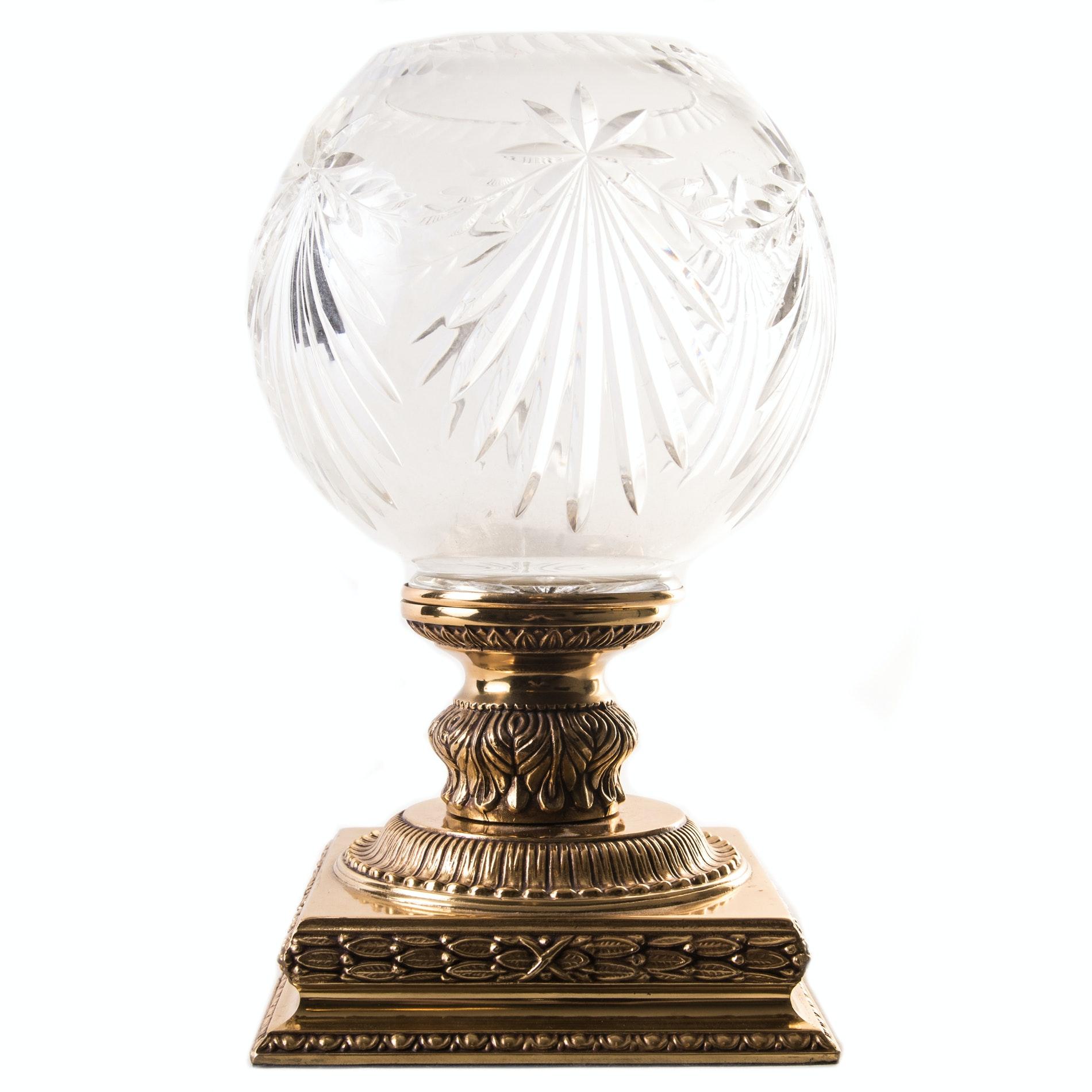 Crystal Globe with Brass Base