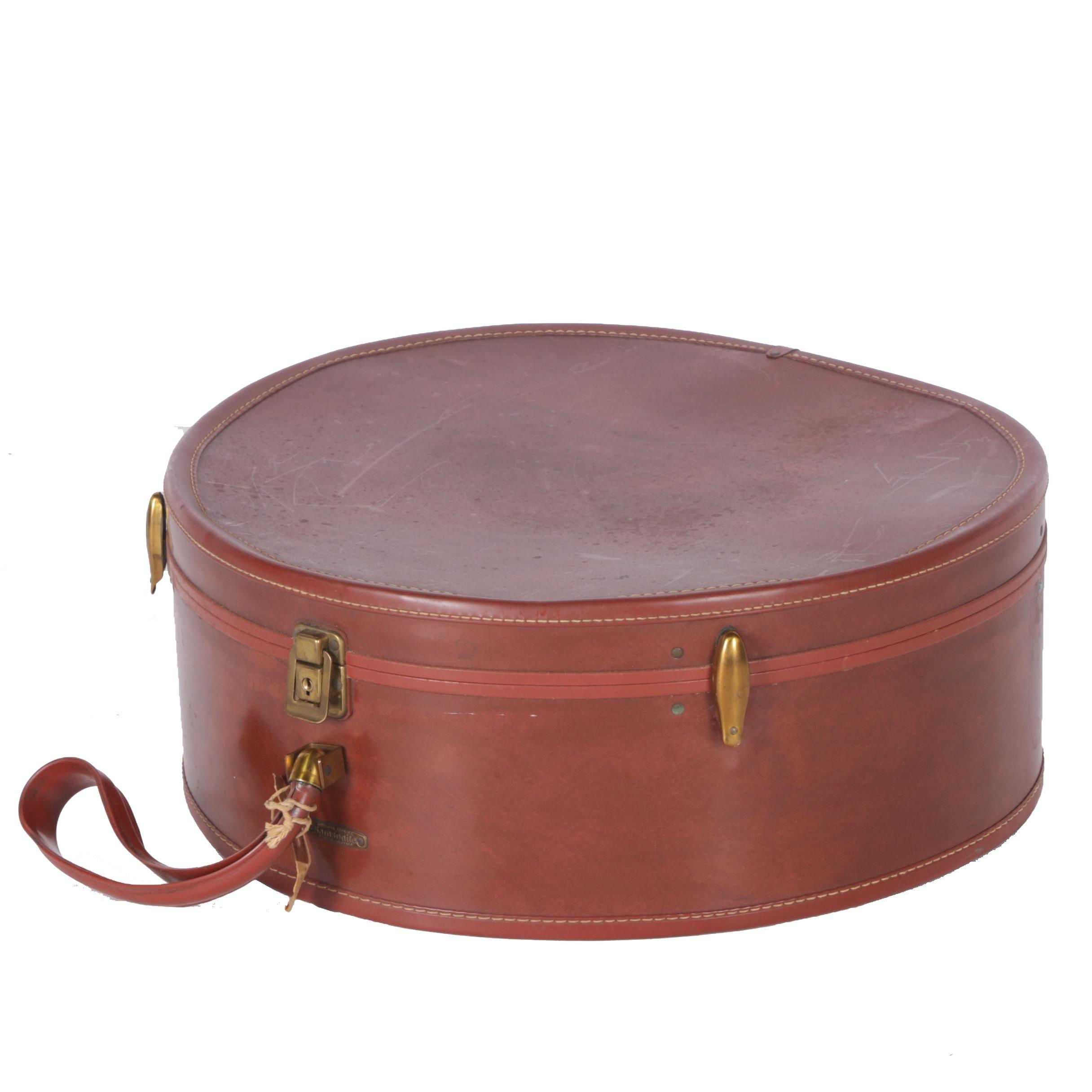 Circa 1960s Vintage Samsonite Luggage Hat Box Train Case