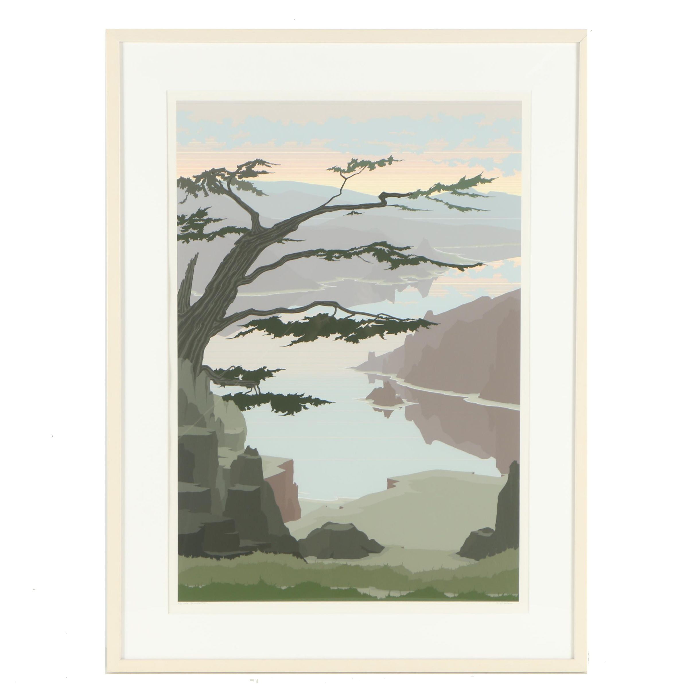 """Jerry Schurr 1983 Serigraph """"Cape Foulweather"""""""