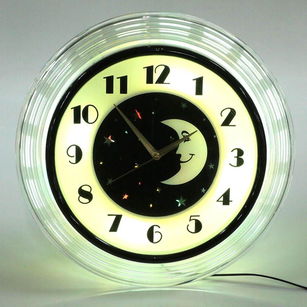 Hyman Products Vintage Art Deco Moon Wall Clock