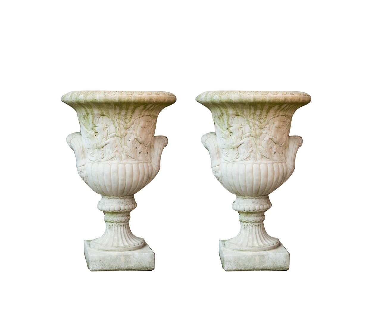 Pair of Neoclassical Concrete Planters