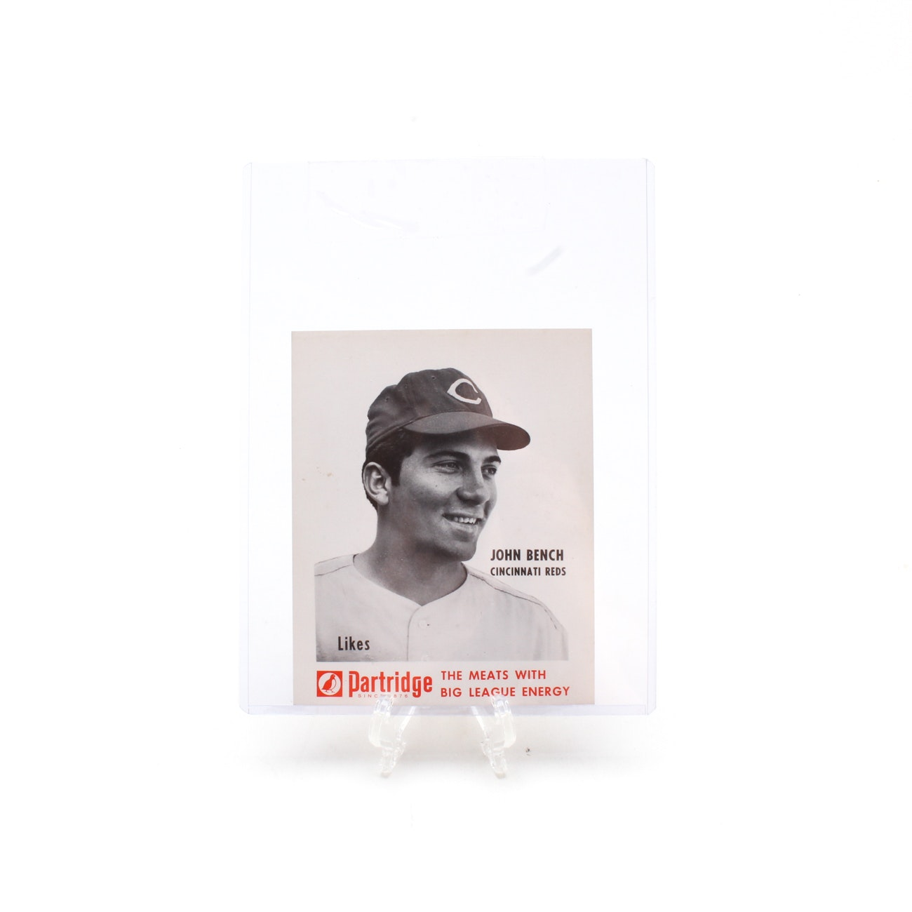 "1968 Johnny Bench Reds ""Partridge Meats"" Rookie Card"