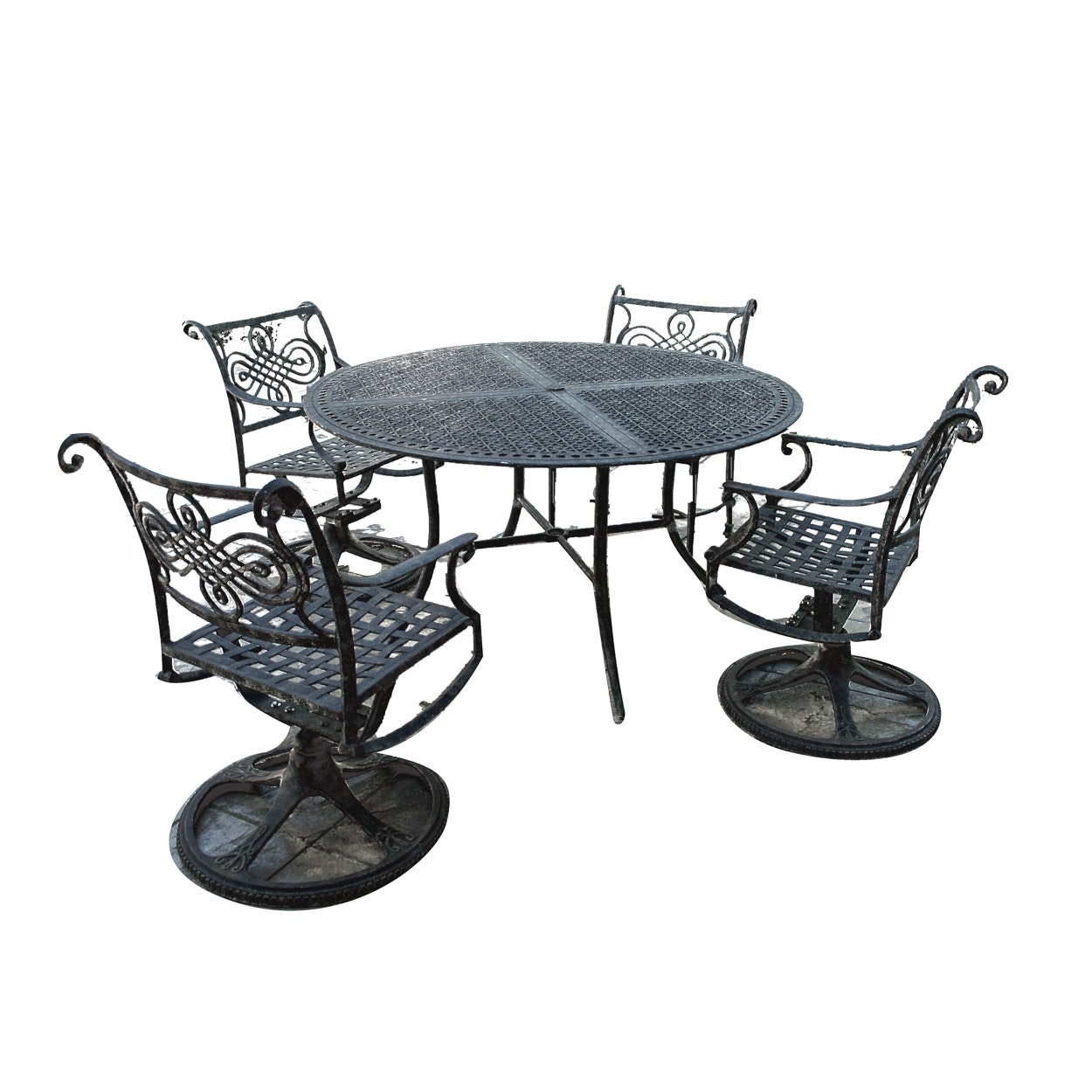 Scrolled Metal Outdoor Patio Dining Set