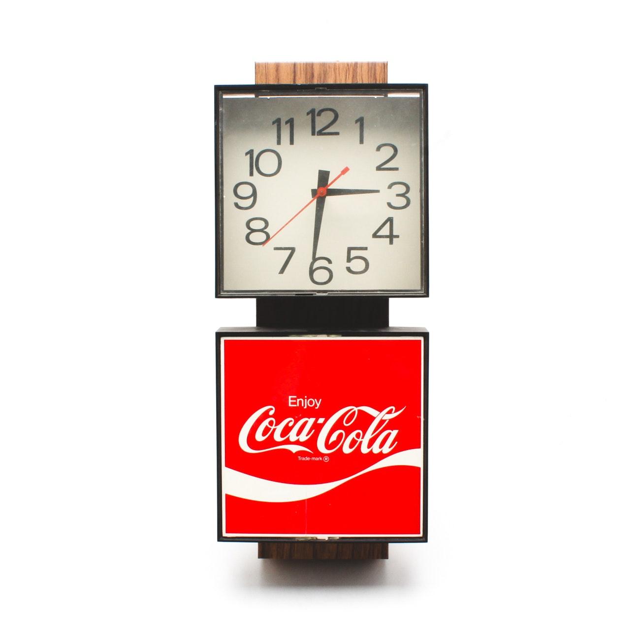 """1970s """"Enjoy Coca-Cola"""" Wall Clock"""