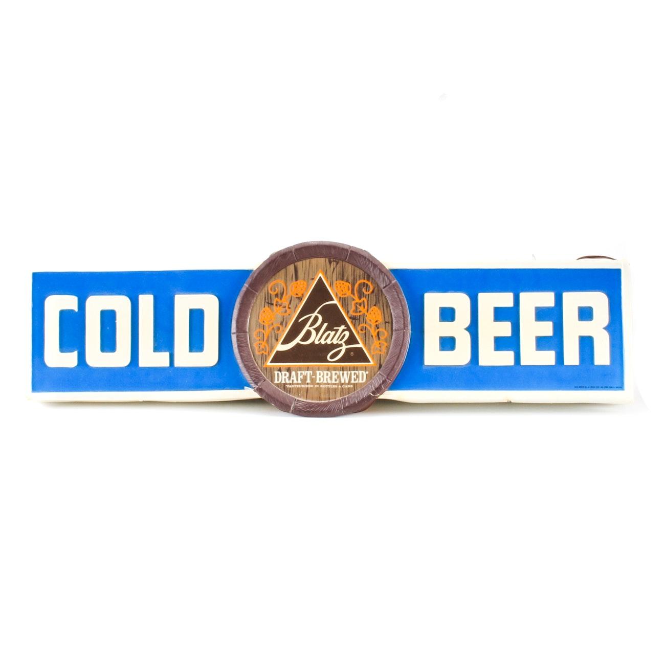 Blatz Beer Store Sign