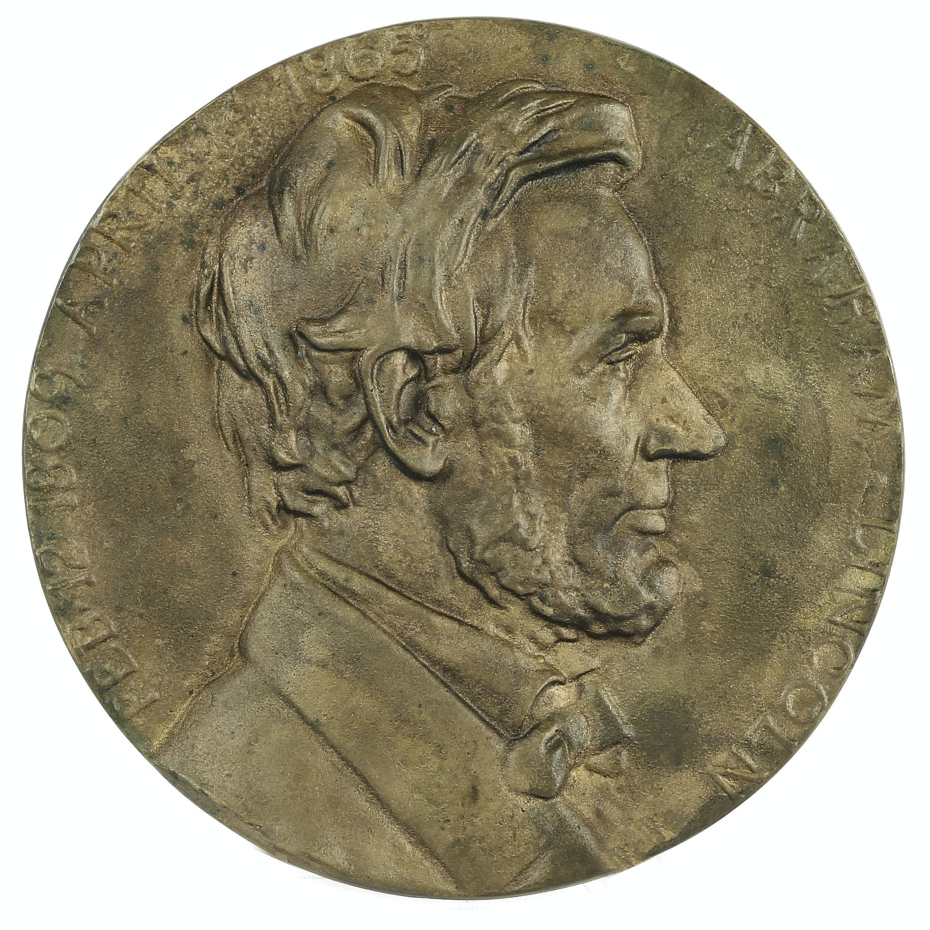 After Charles Calverley Bronze Abraham Lincoln Memorial Plaque