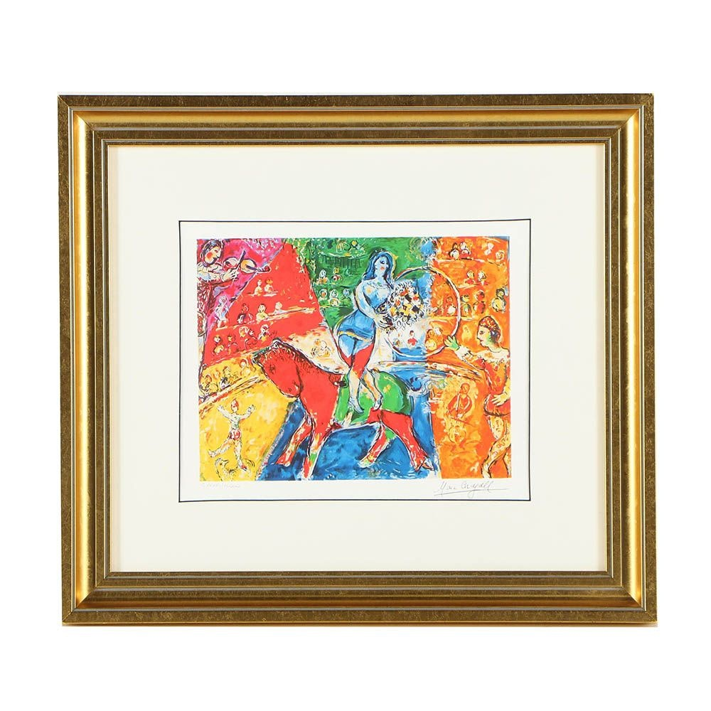 """1999 Reproduction Giclée After Marc Chagall """"Circus Horse and Rider"""""""