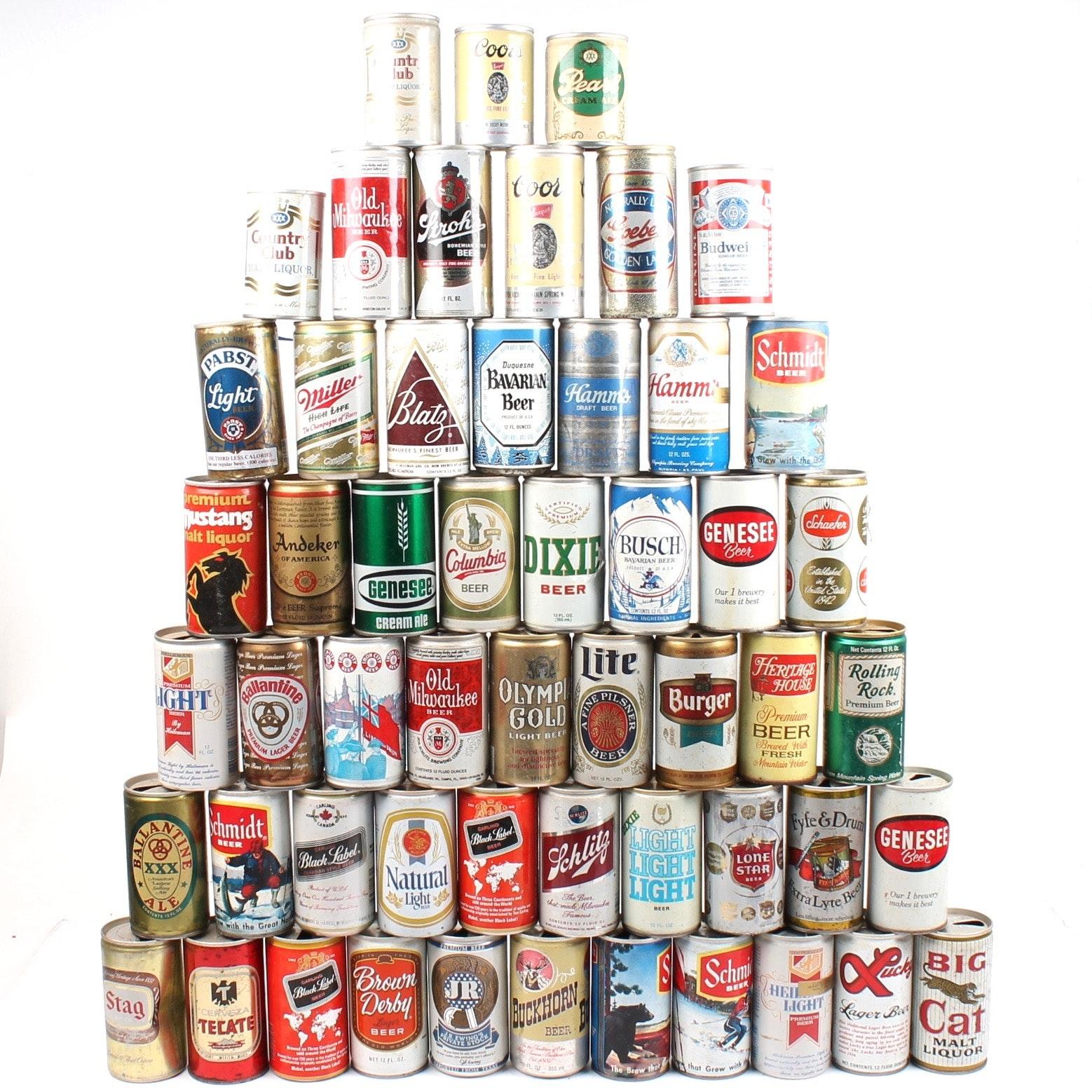 Vintage Flat Top Pull Tab Beer Cans