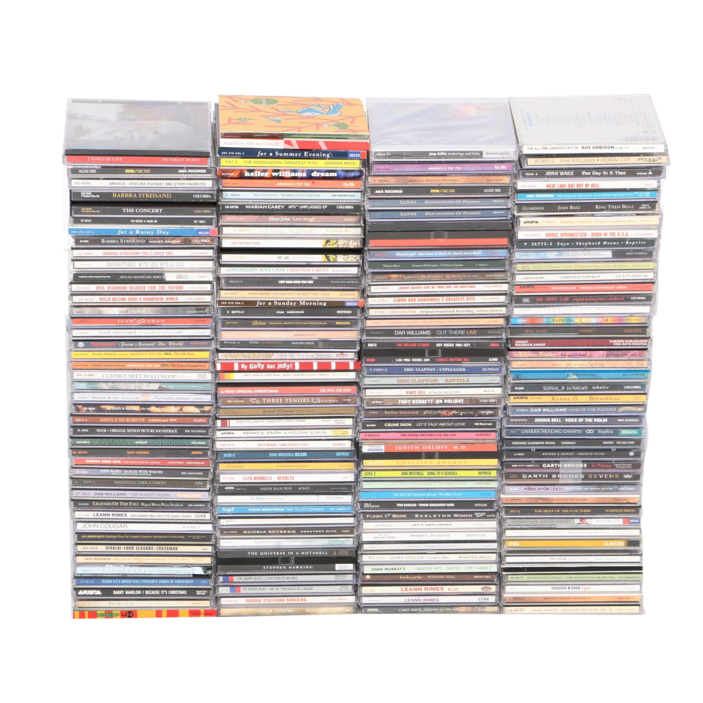 CDs Including Barbra Streisand, Christmas, Soundtracks