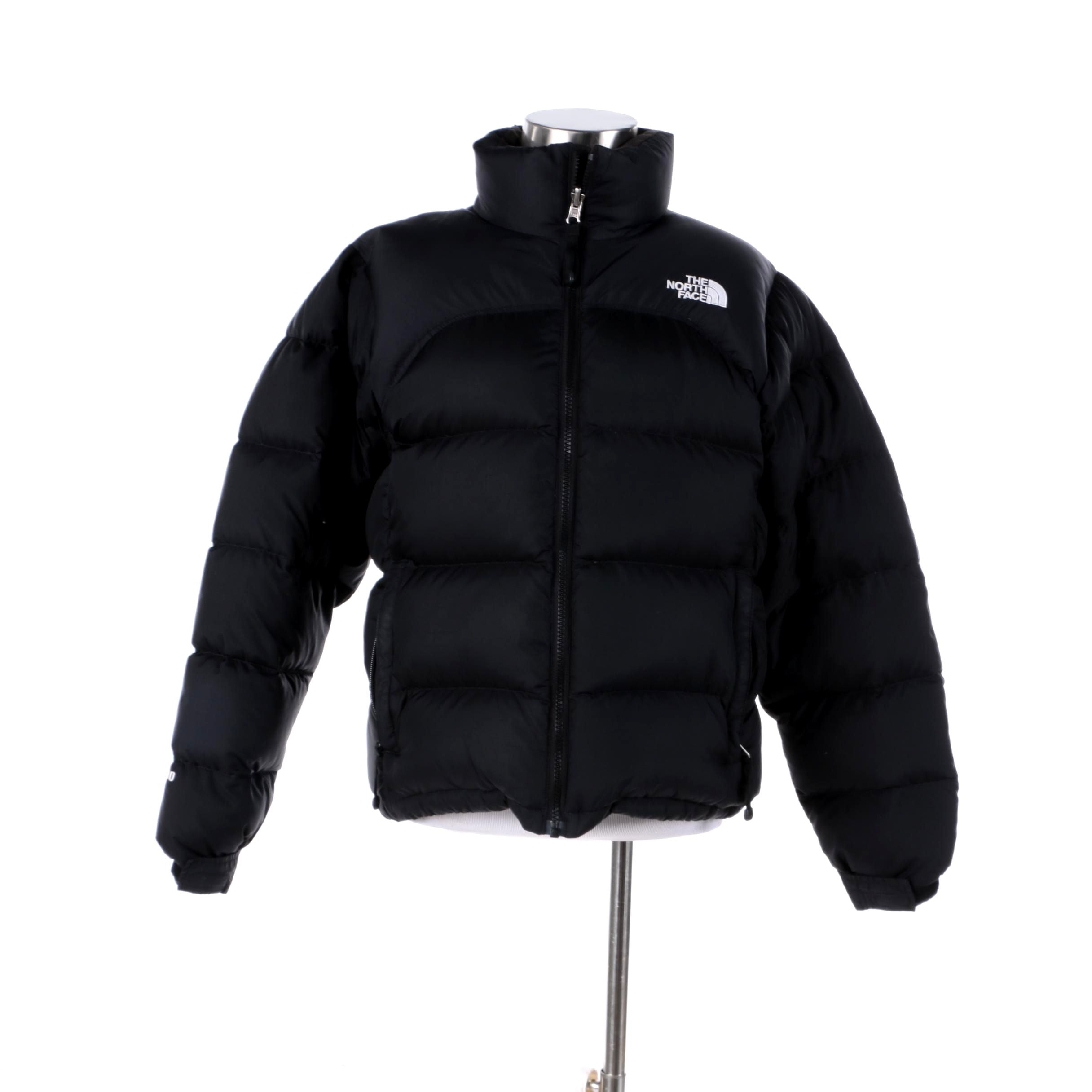 Women's The North Face 700 Down Filled Black Puffer Jacket