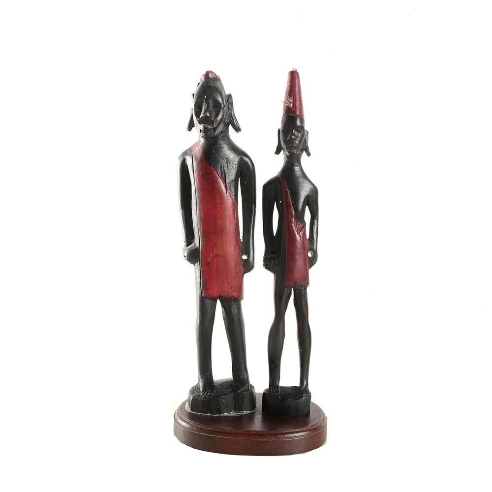 Maasai Style Carved Wooden Figures