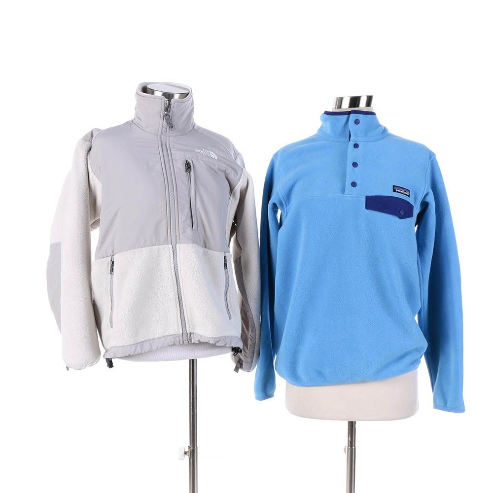 Women's The North Face Zip Jacket and Patagonia Synchilla Fleece Pullover