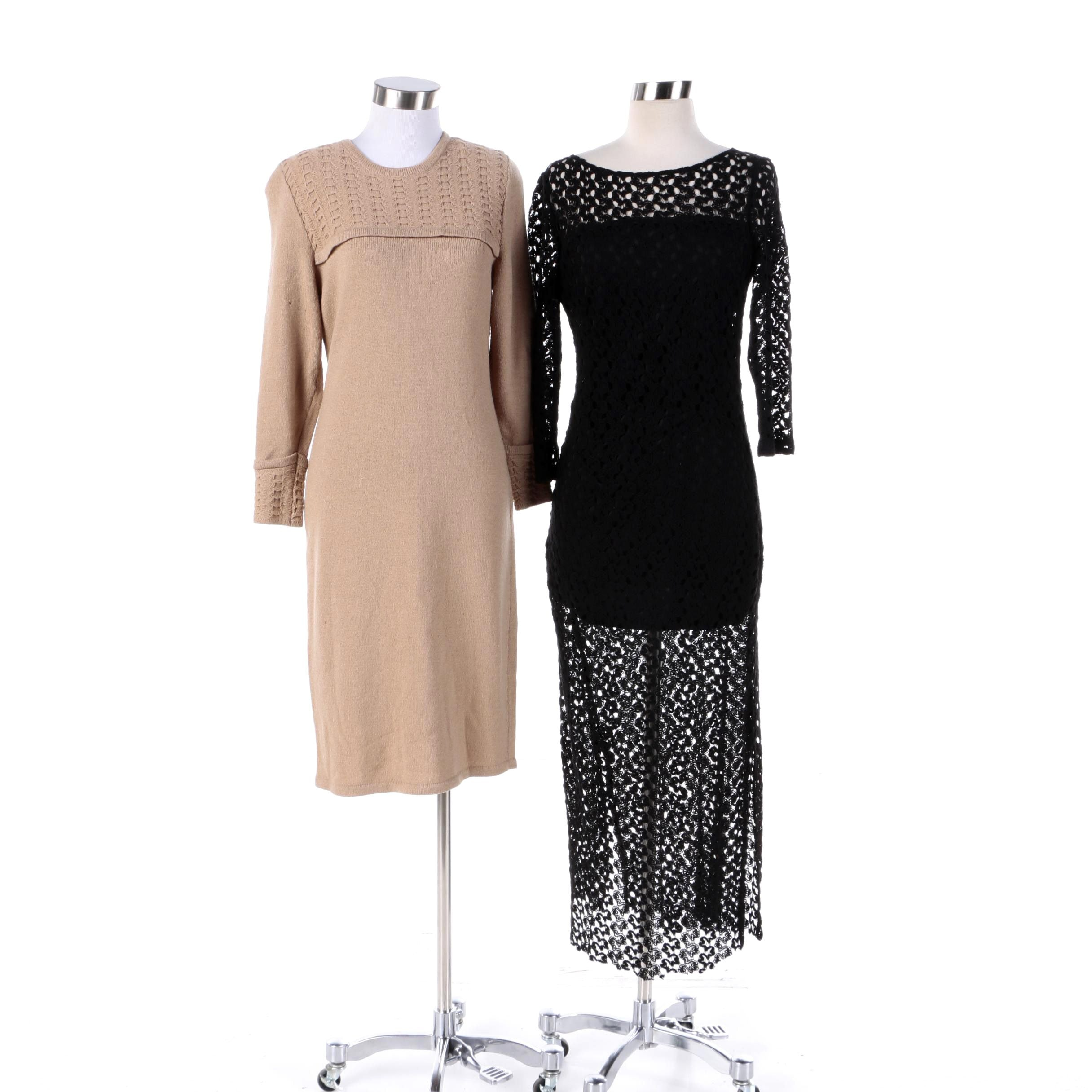 Women's Knit Dresses Including Carolina Herrera Knitwear