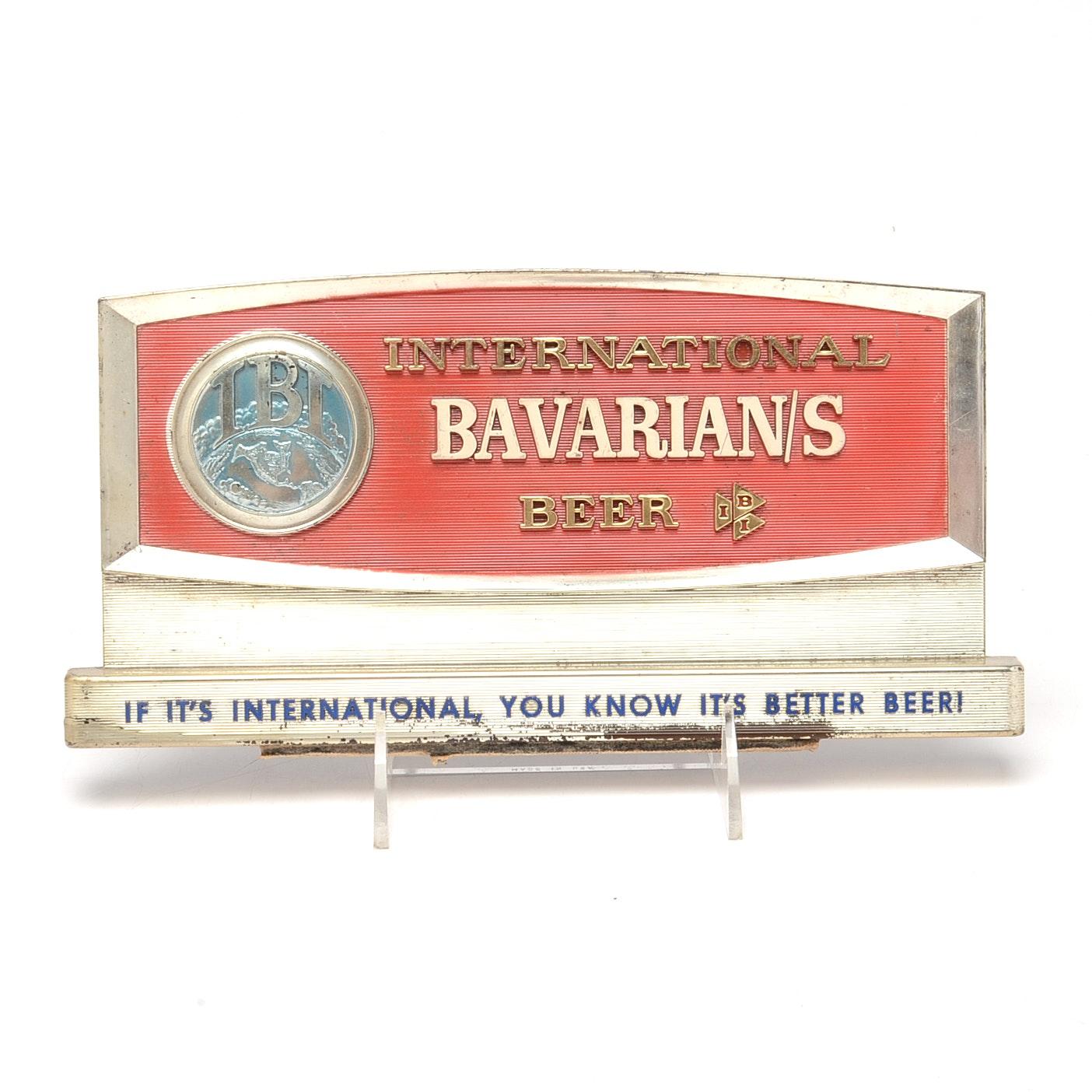 1960 Bavarian Beer Sign