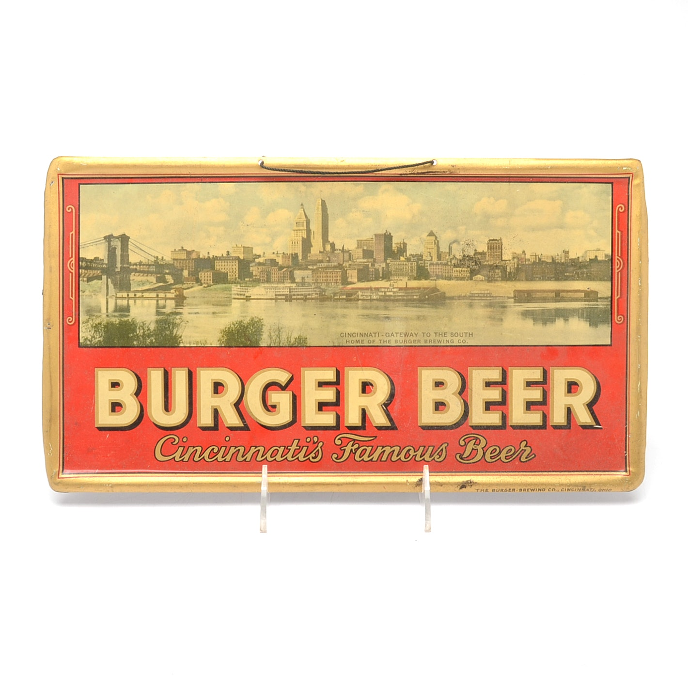 1940s Burger Beer Cincinnati Skyline Sign