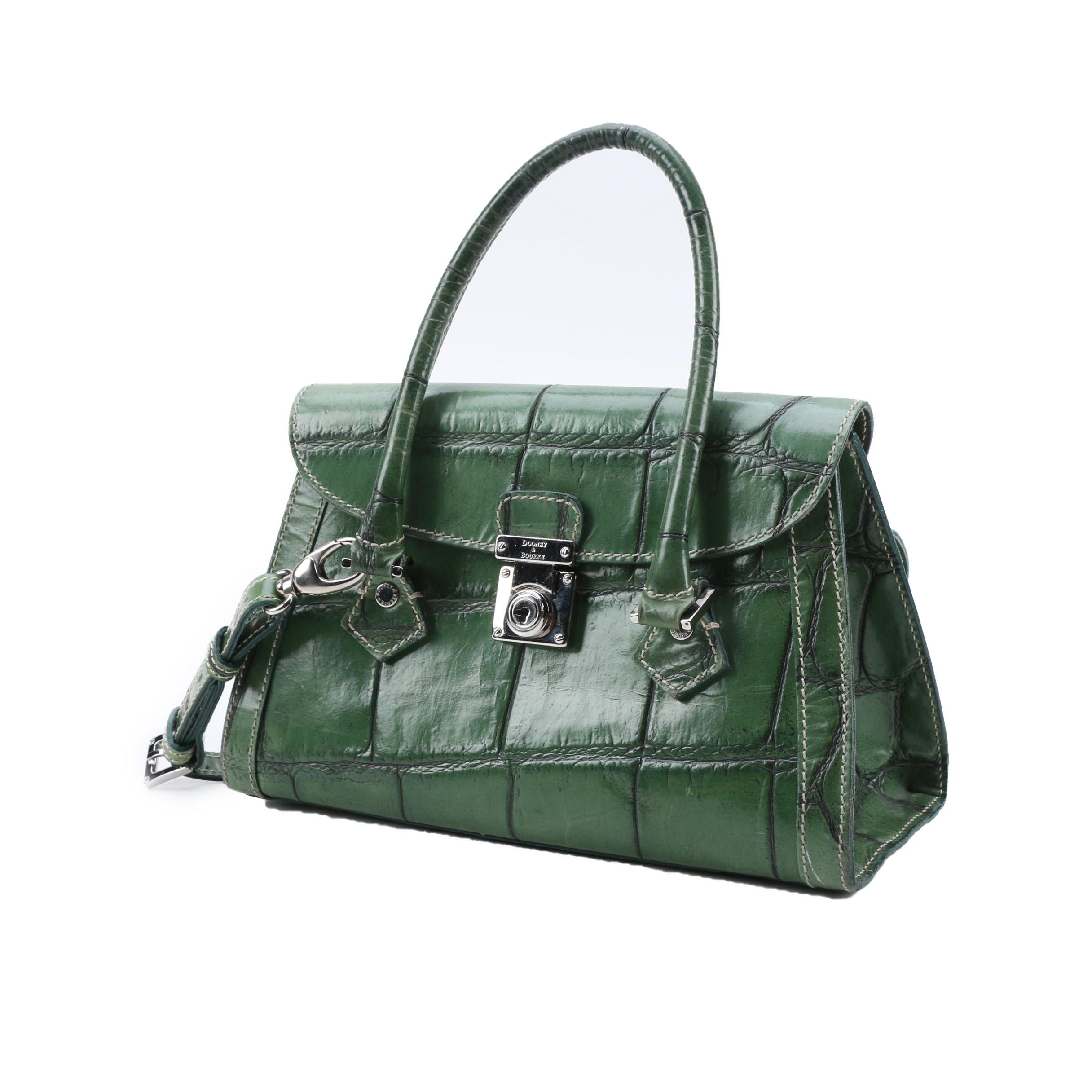 Dooney & Bourke Green Embossed Leather Handbag