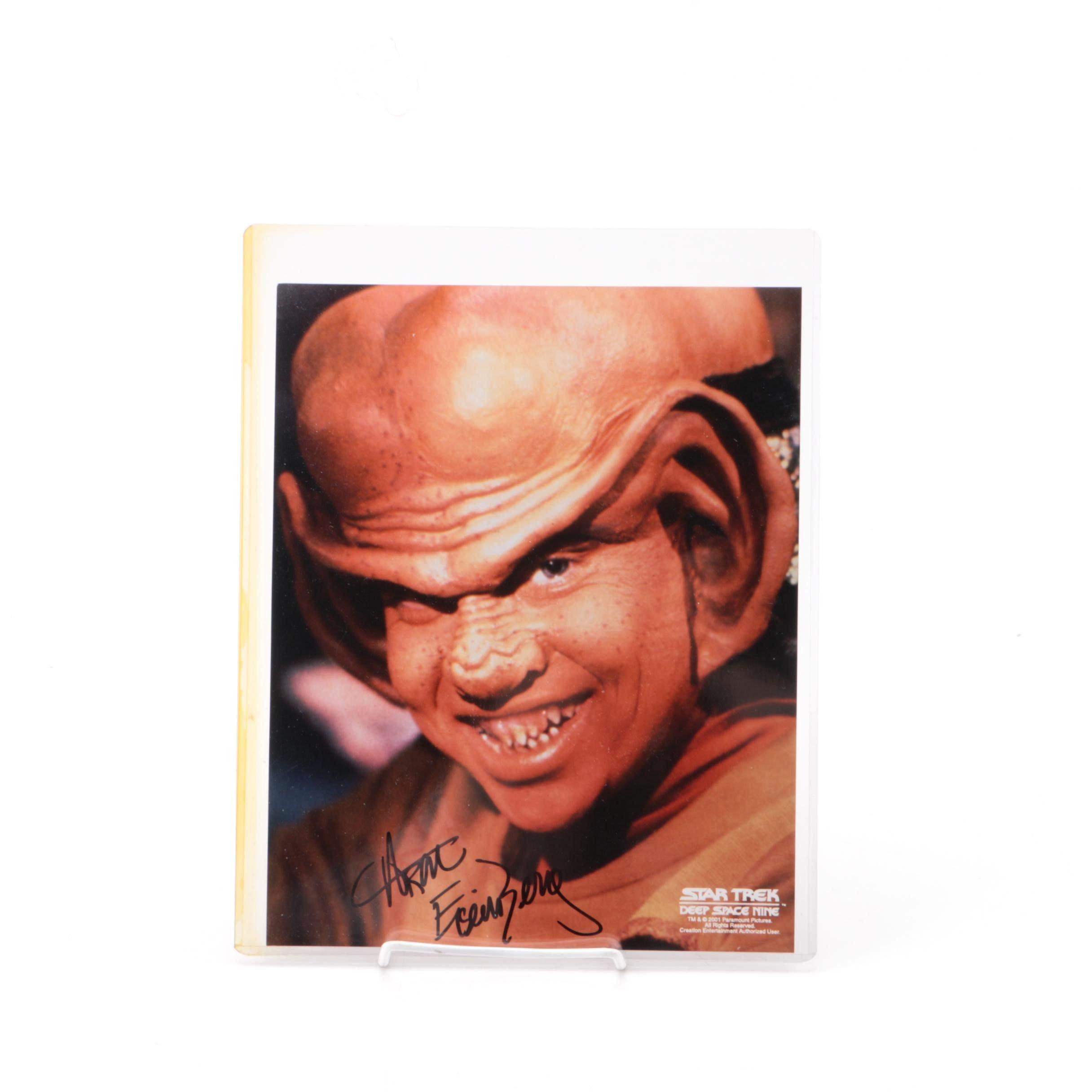 "Aron Eisenberg Autographed ""Star Trek: Deep Space Nine"" Photograph"