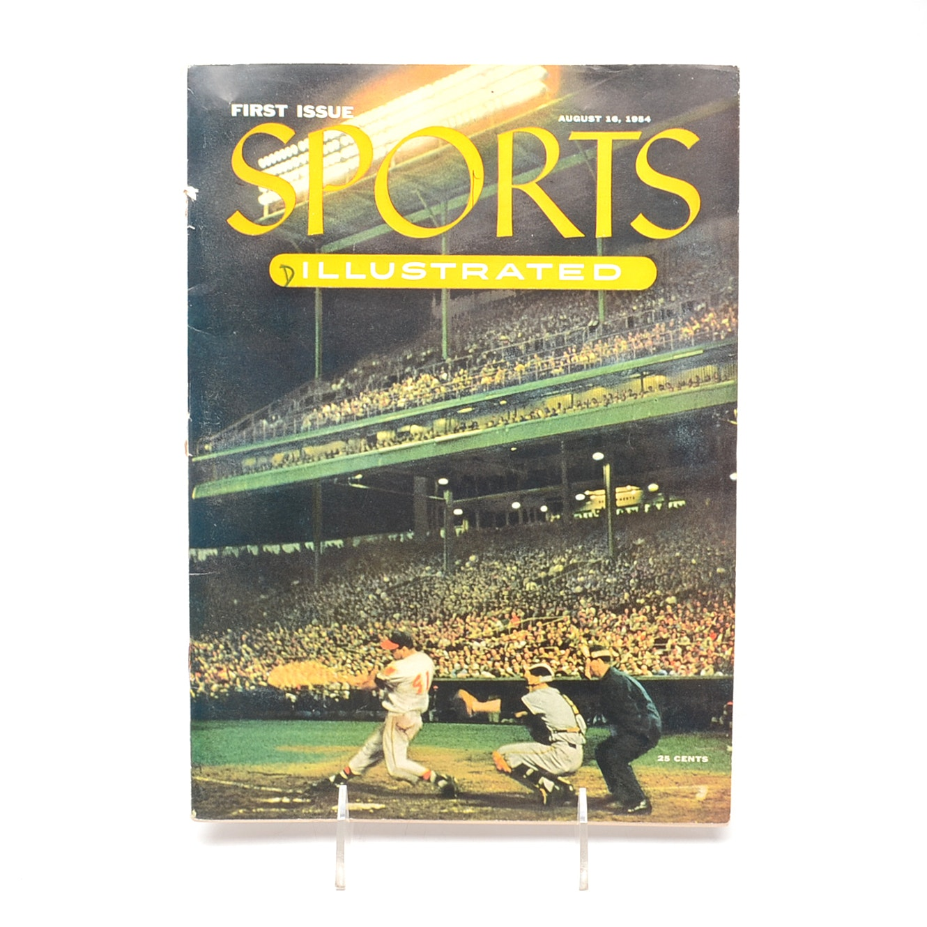 "1954 ""First Issue"" Sports Illustrated Magazine With Baseball Cards"