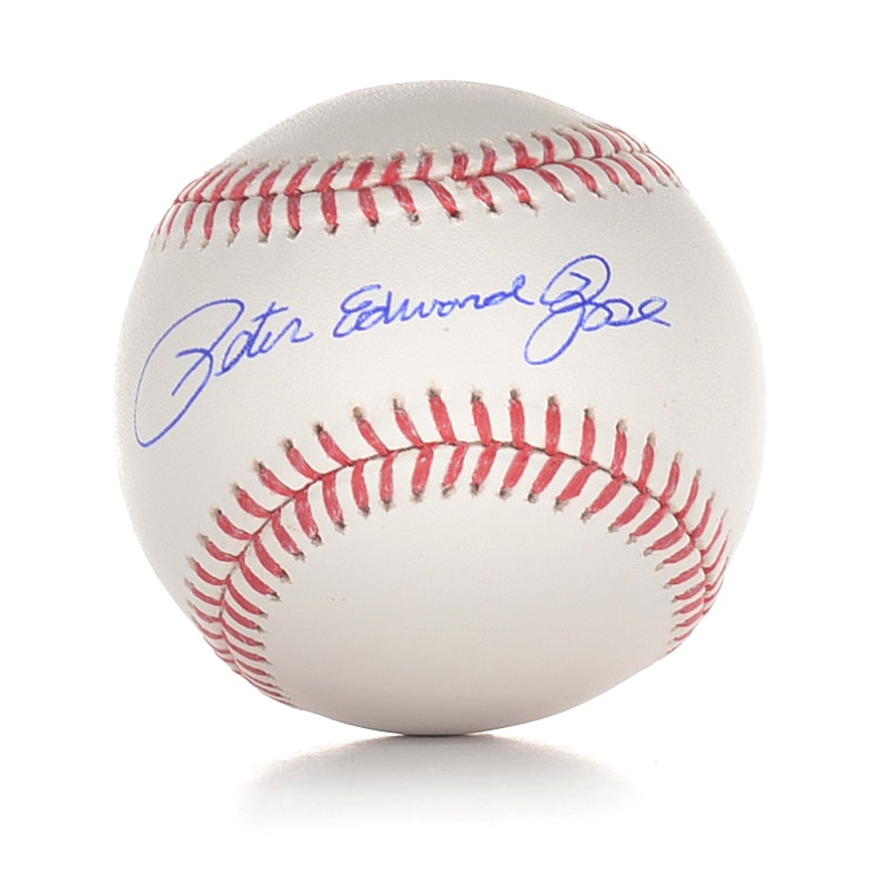Peter Edward Rose Signed Baseball  COA