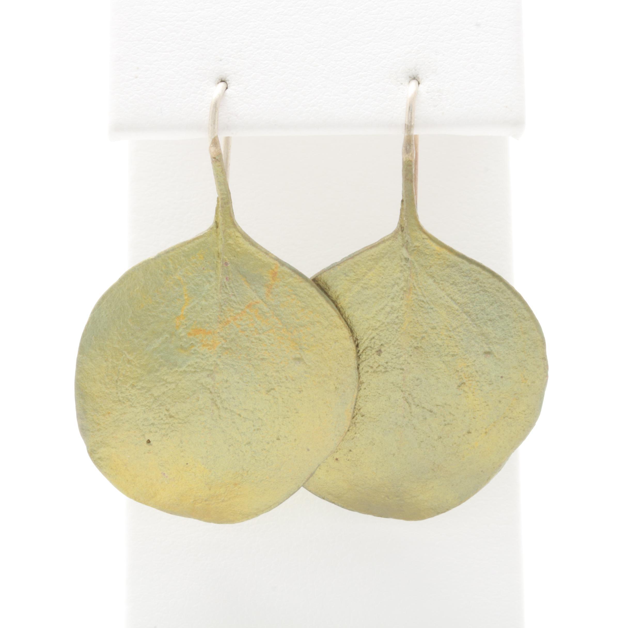 Sterling Silver Artisanal Foliate Earrings