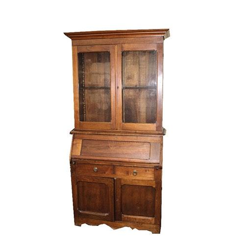 Antique Mahogany Secretary Cabinet