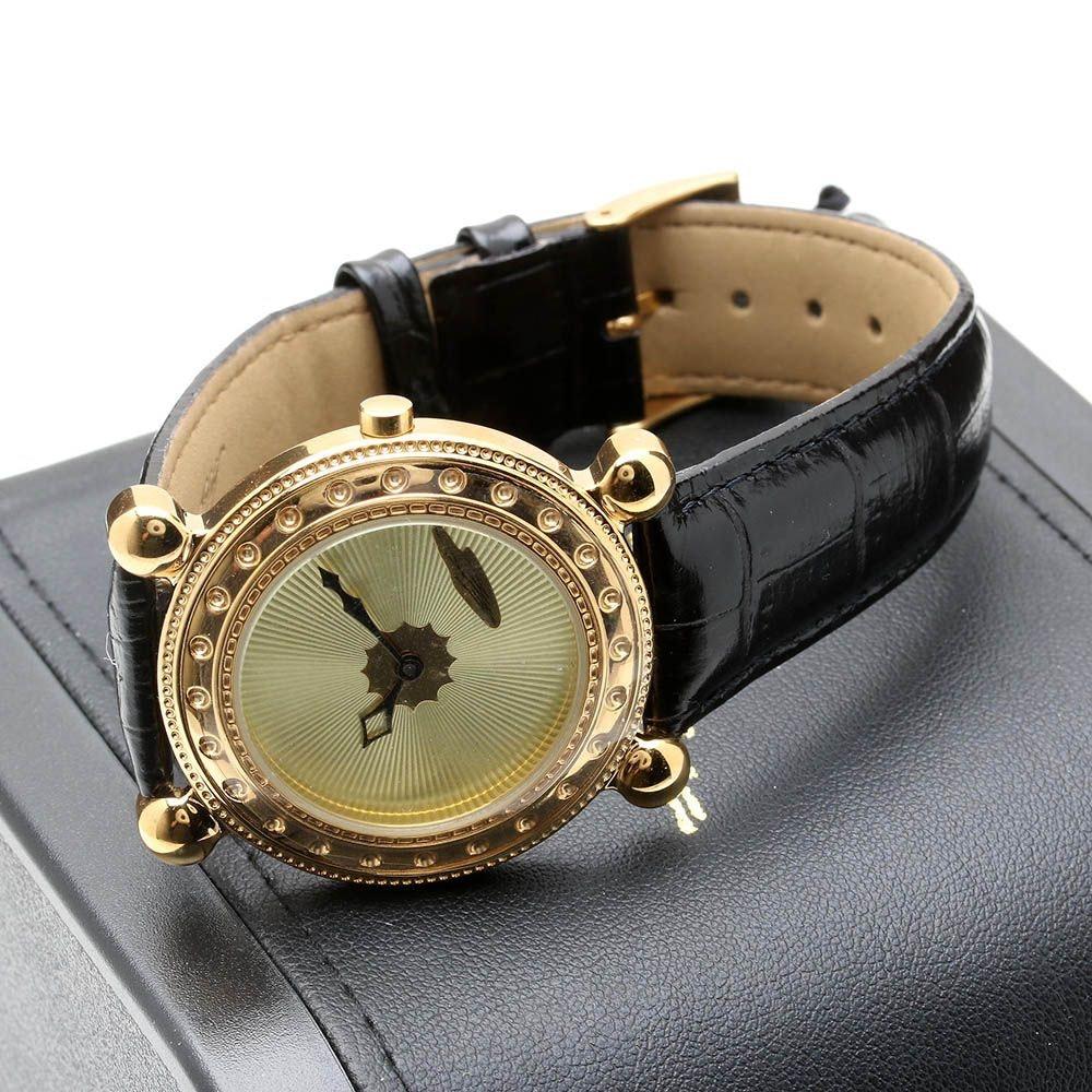 Sevenarts Ltd. Erté Gold Plated Stainless Steel Wristwatch