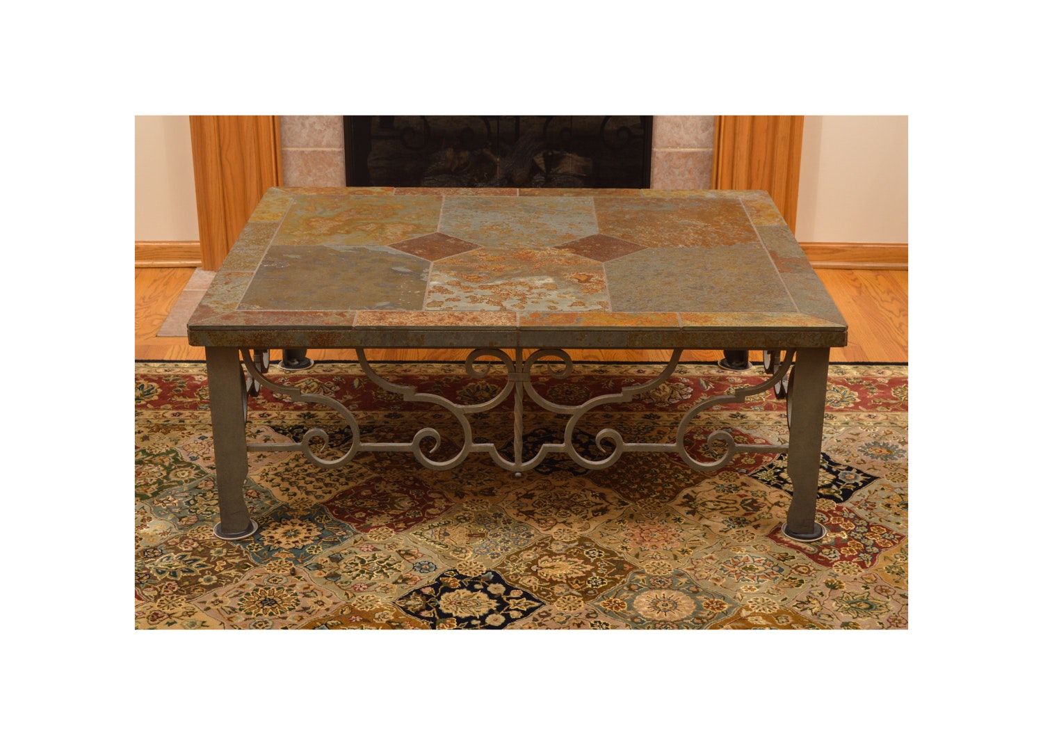 Slate Topped Coffee Table