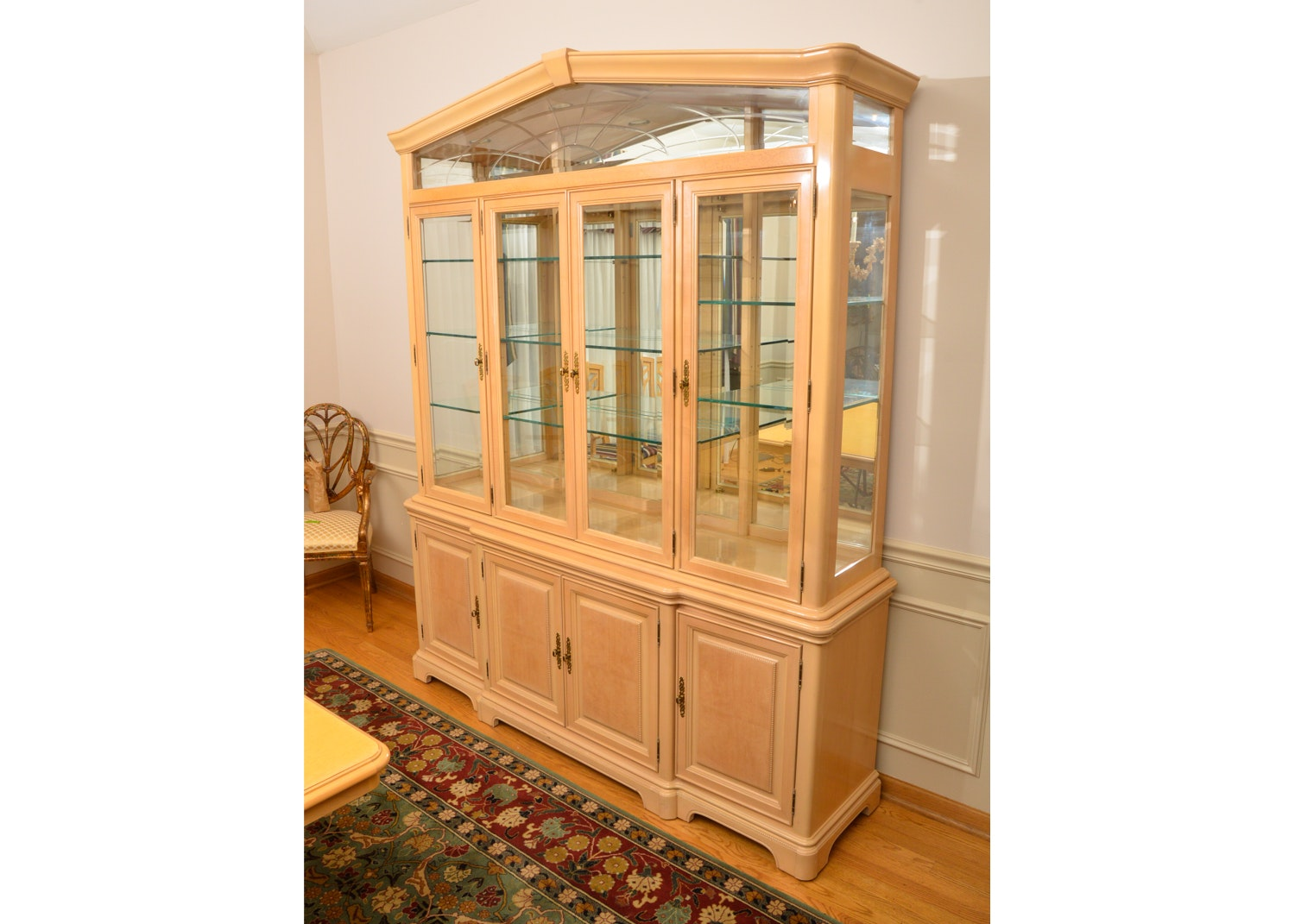 Blonde China Cabinet by Bernhardt