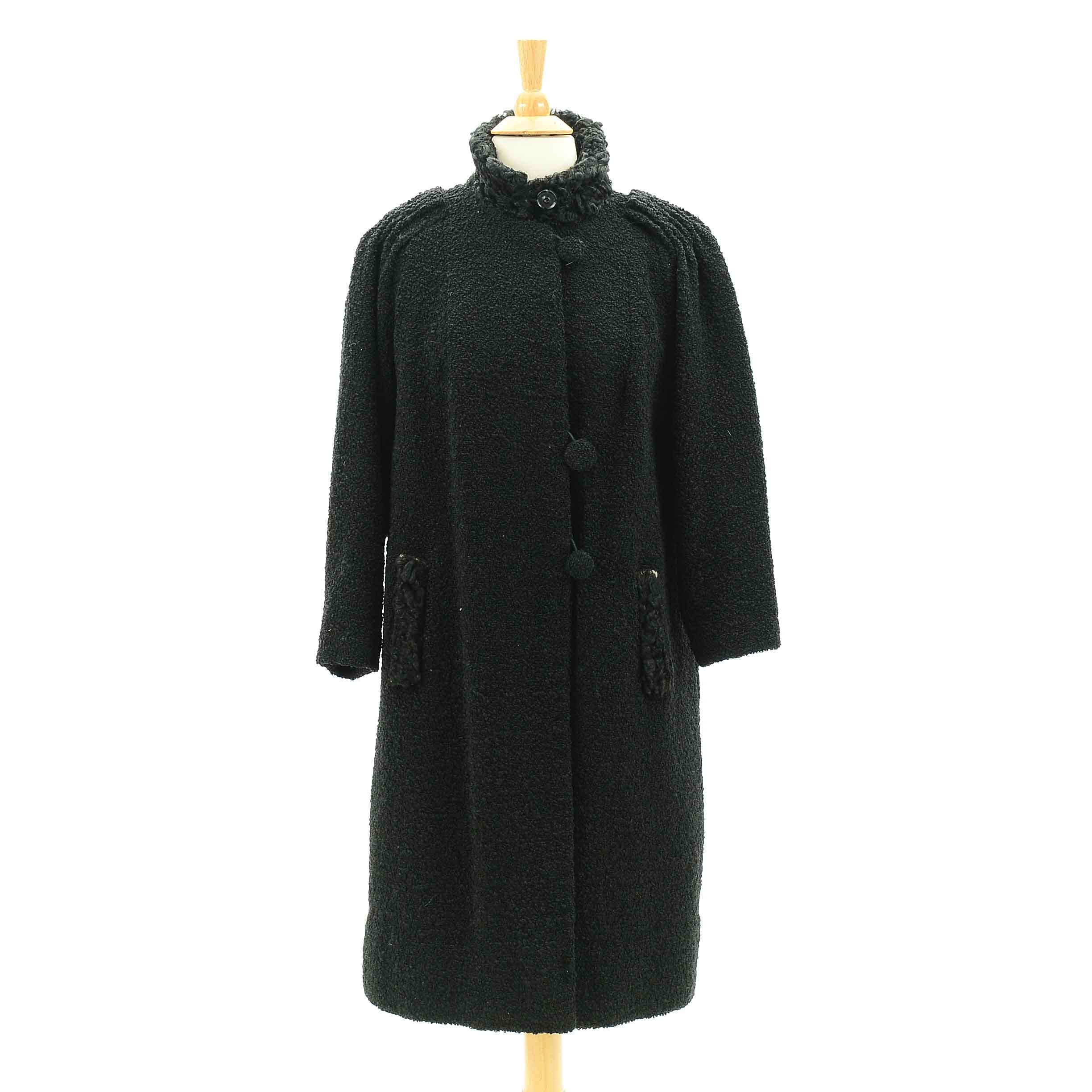 Vintage Wool and Persian Lamb Coat
