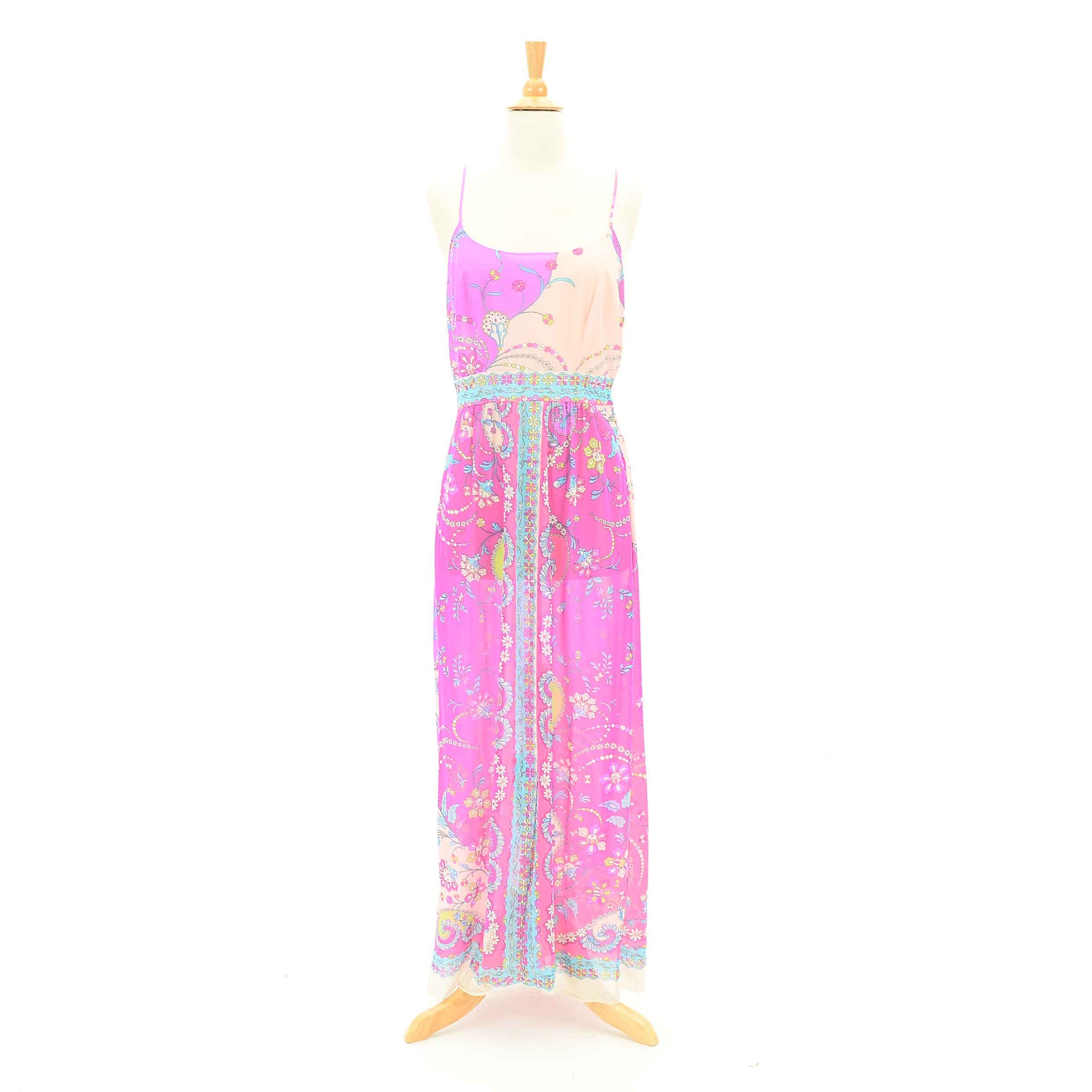 1970s Vintage Emilio Pucci for Formfit Rogers Slip Dress