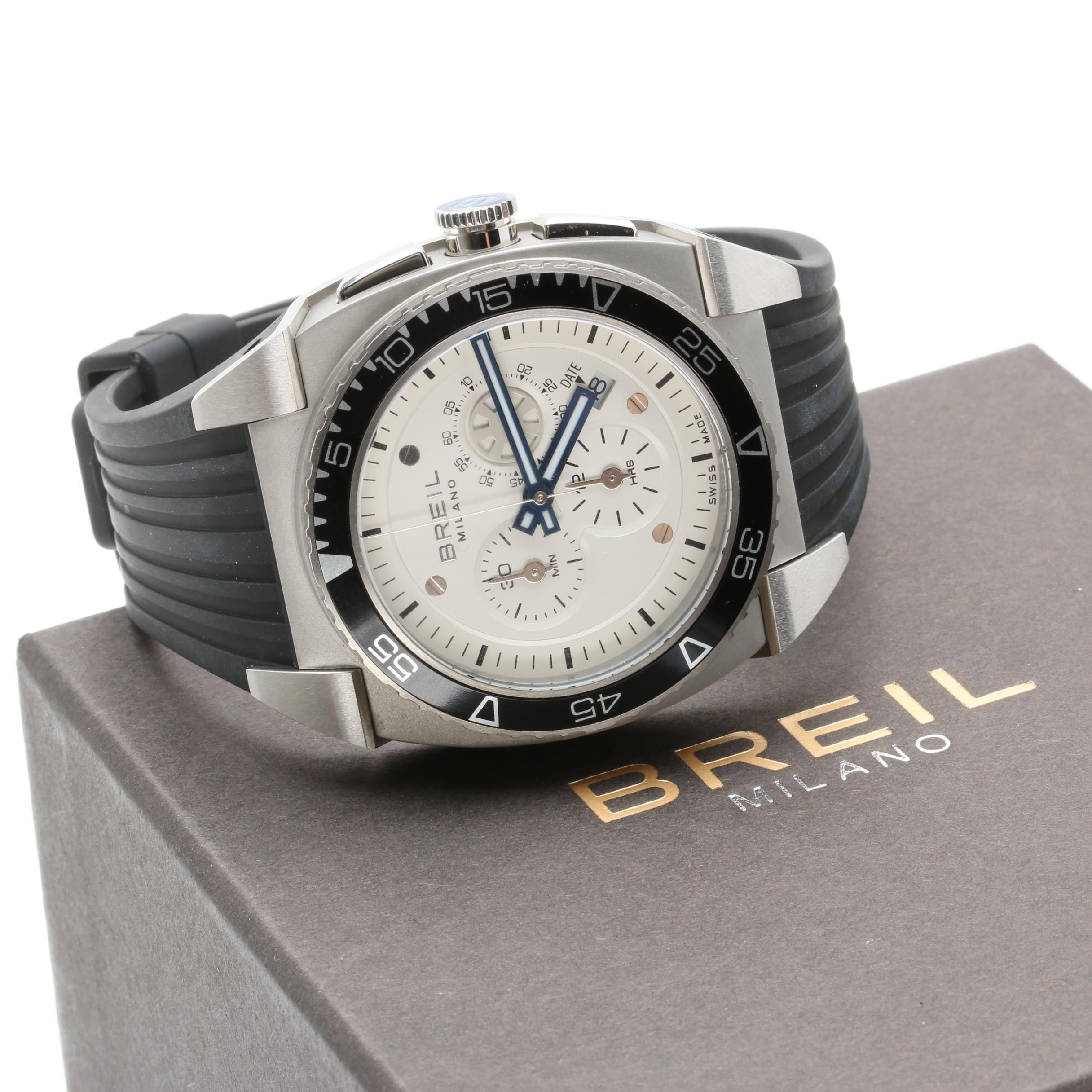 Breil Milano Stainless Steel Swiss Chronograph Wristwatch