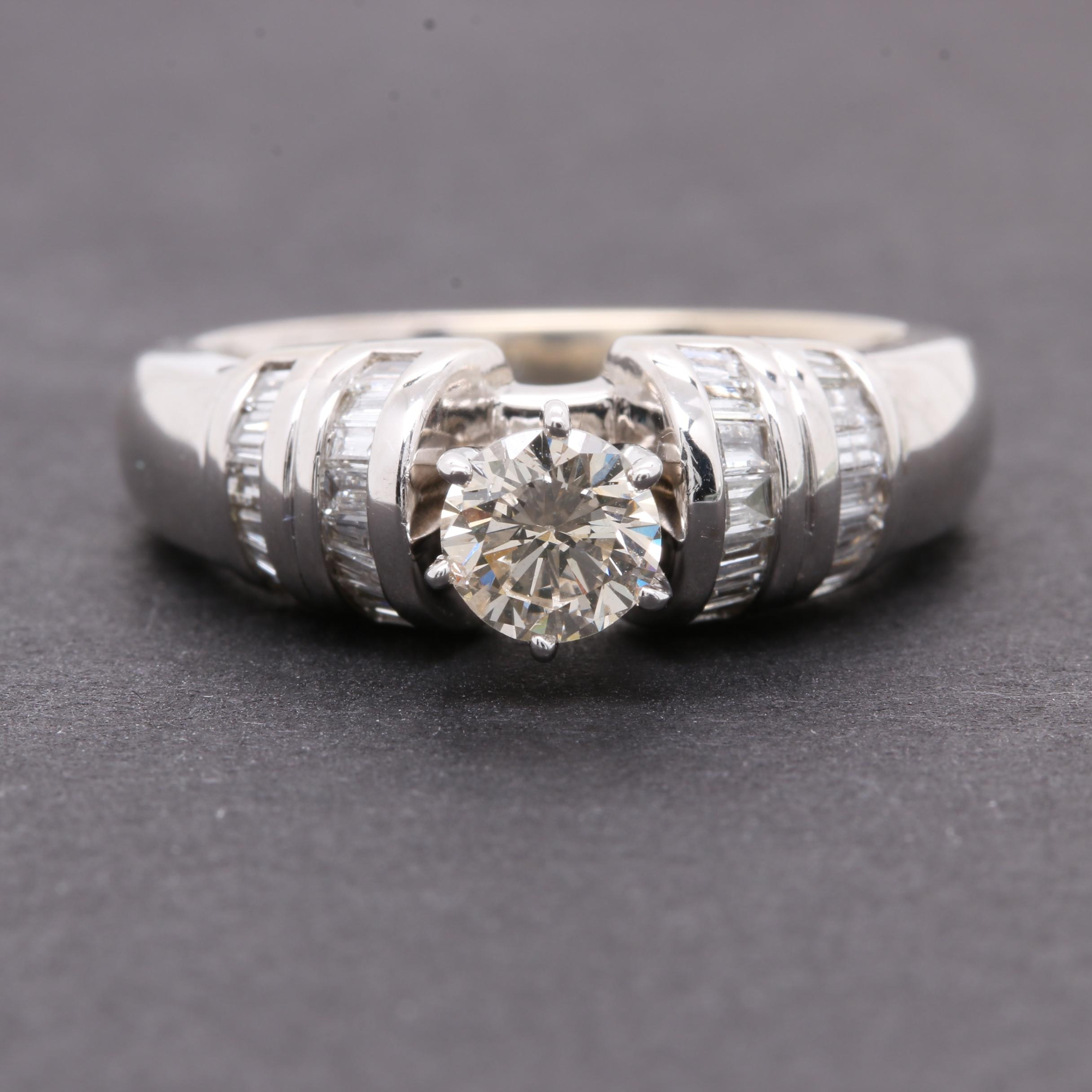 18K White Gold 0.98 CTW Diamond Ring
