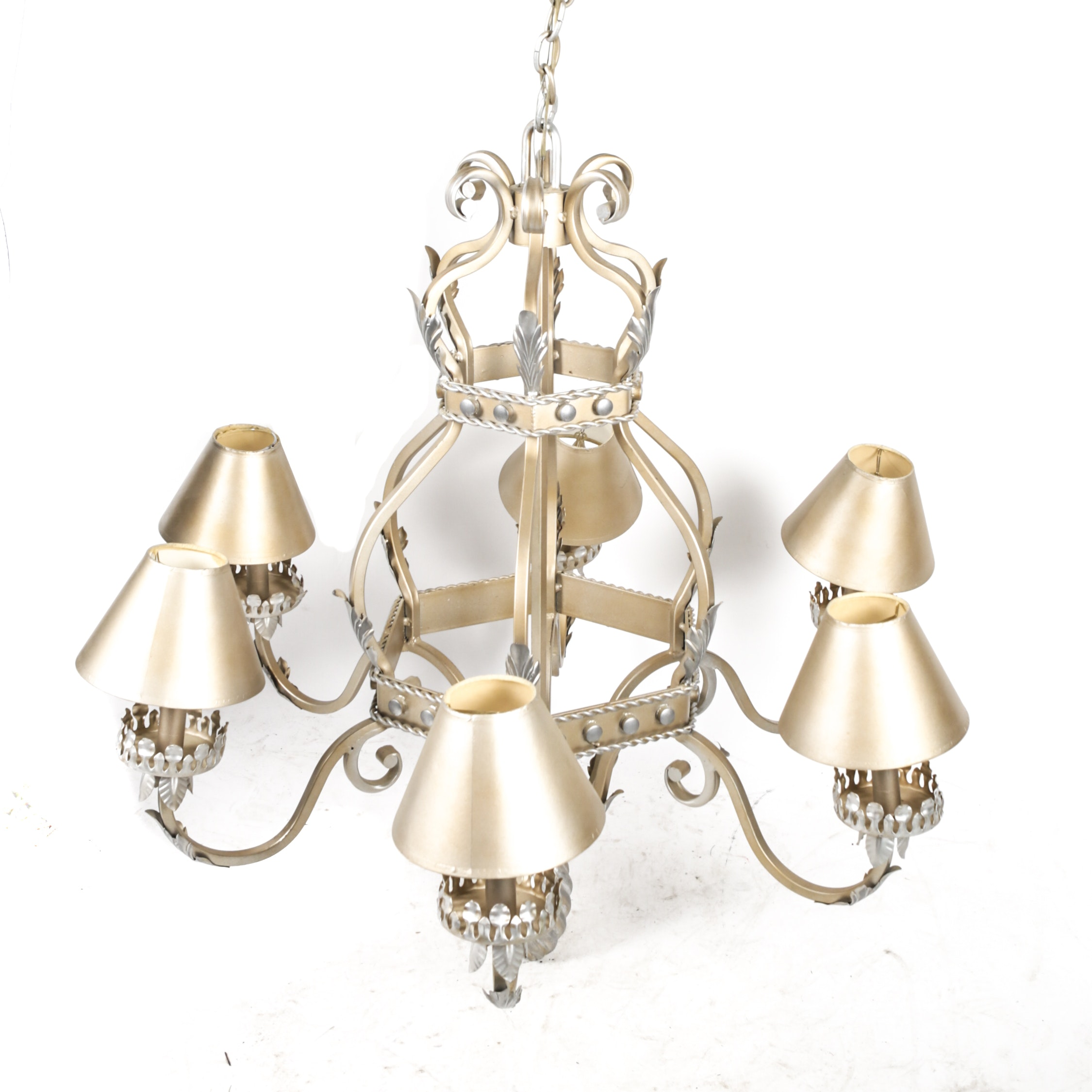 Gold and Silver Tone Chandelier