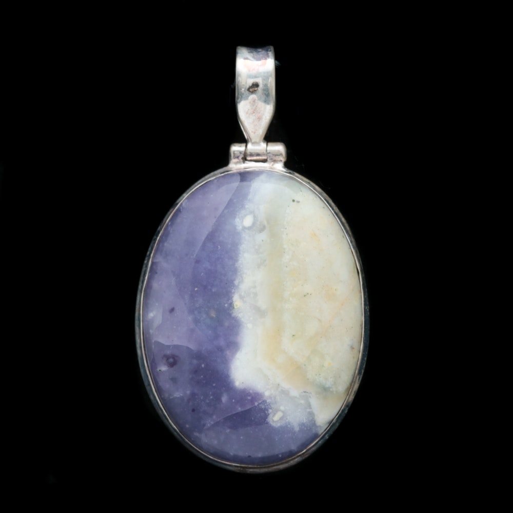 Sterling Silver and Dyed Quartz Pendant