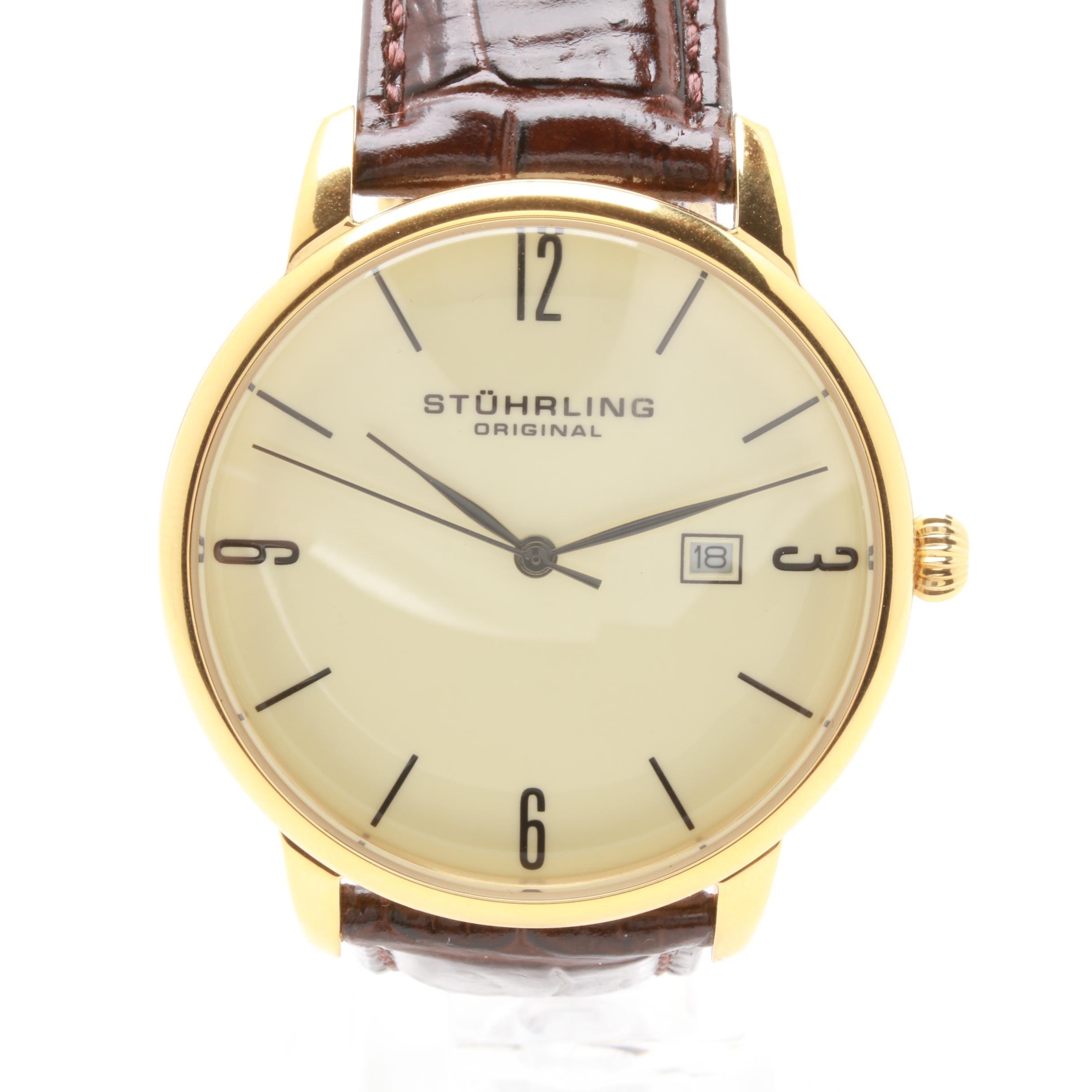 Stührling Original Gold Tone Stainless Steel Wristwatch