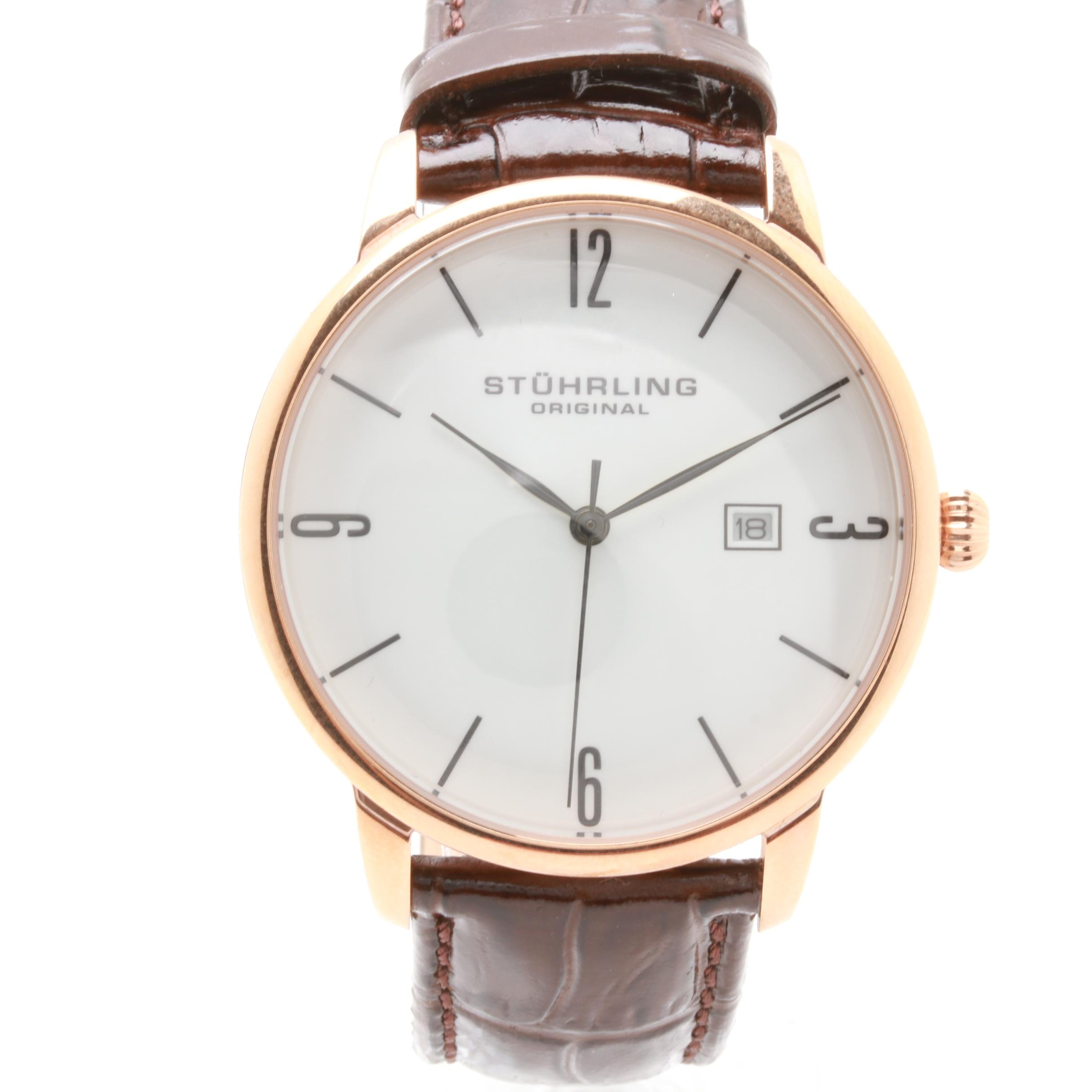 Stührling Original Rose Tone Stainless Steel Wristwatch