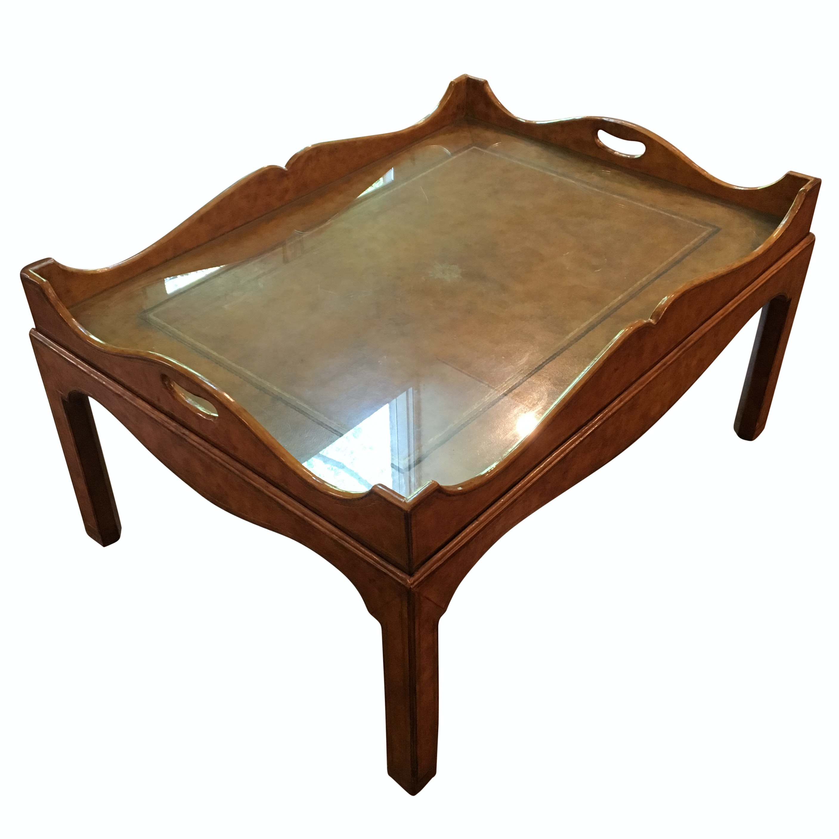 Maitland-Smith Leather Wrapped Coffee Table
