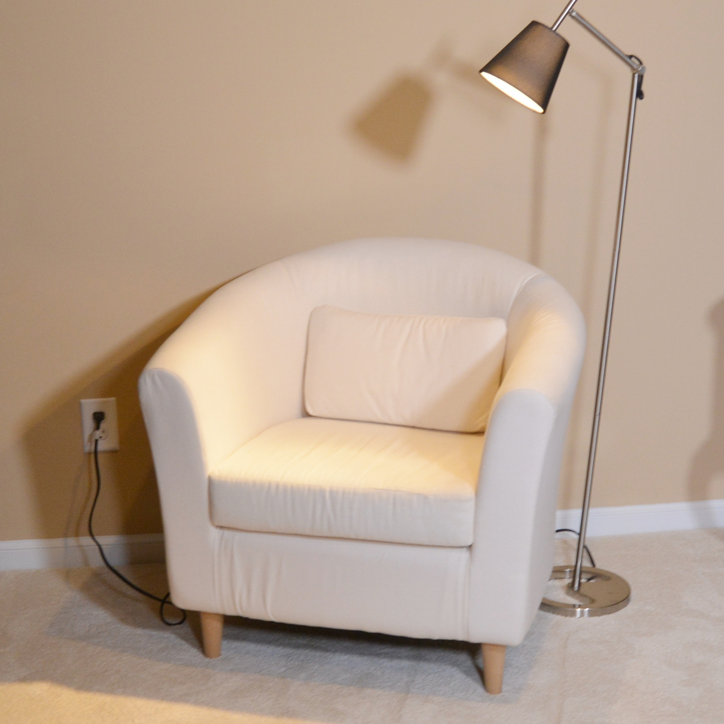 Ikea Tullsta Chair and Floor Lamp