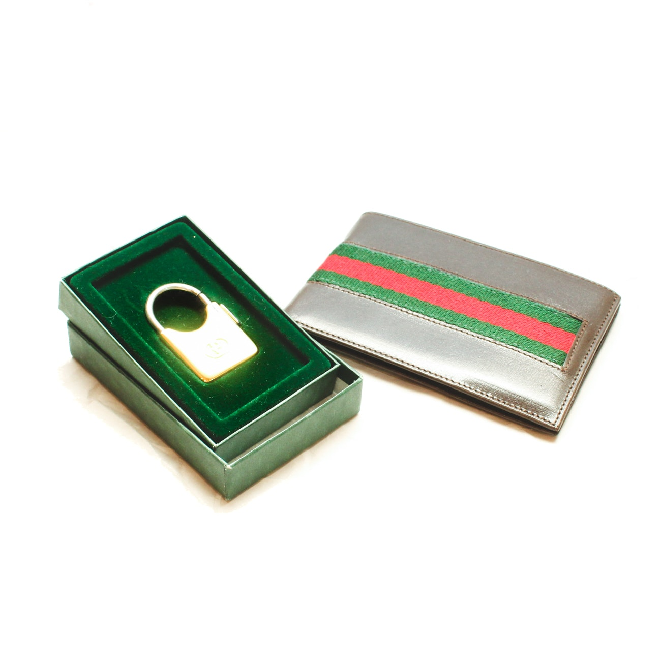 Men's Gucci Leather Wallet and Keychain