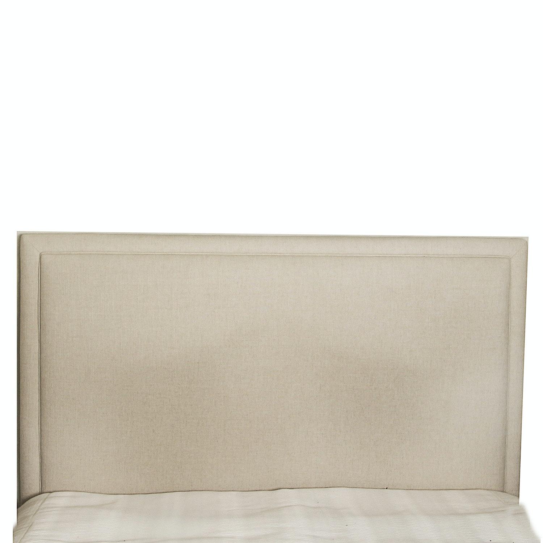 Beige Upholstered Queen Size Headboard