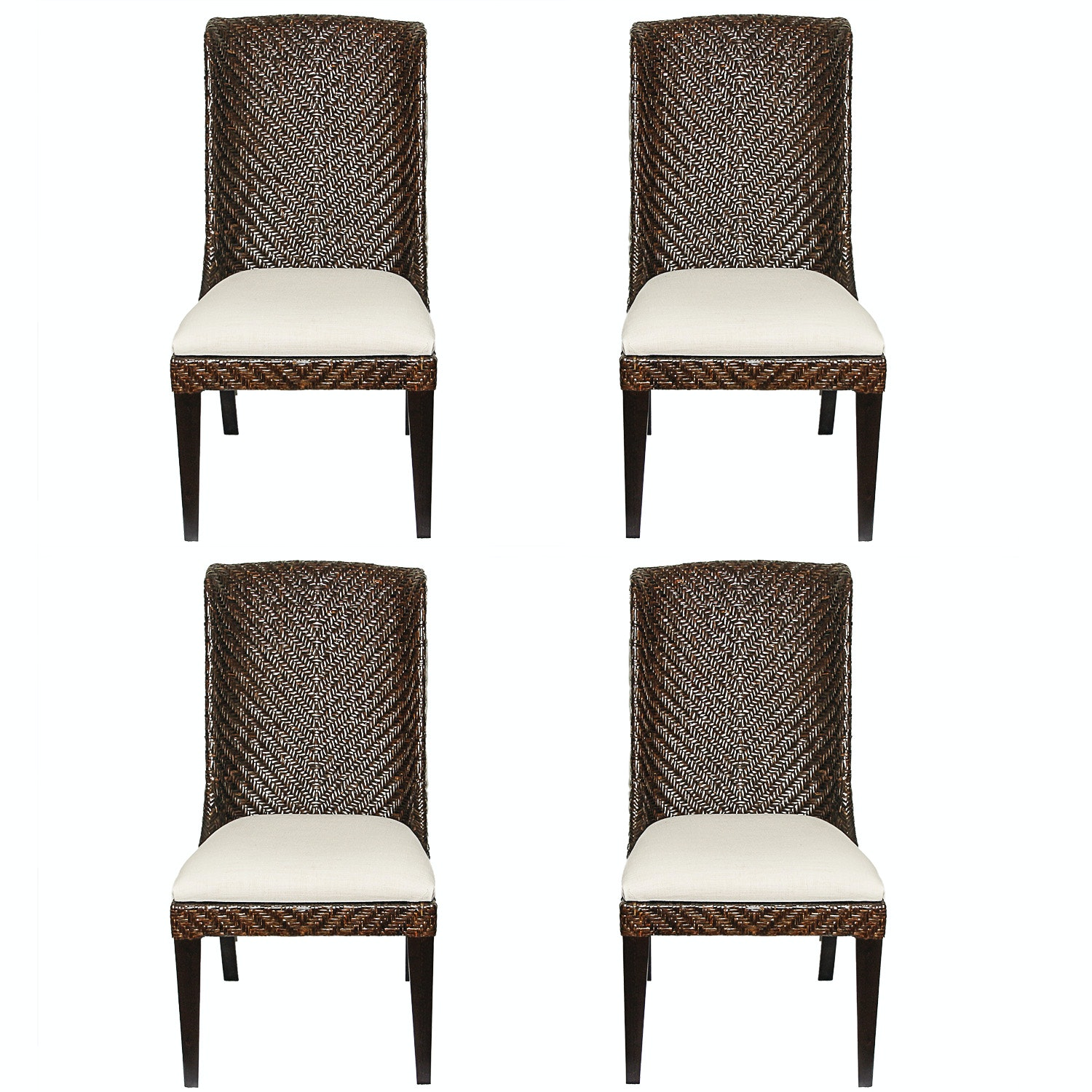Woven Dining Chairs by Bassett Furniture