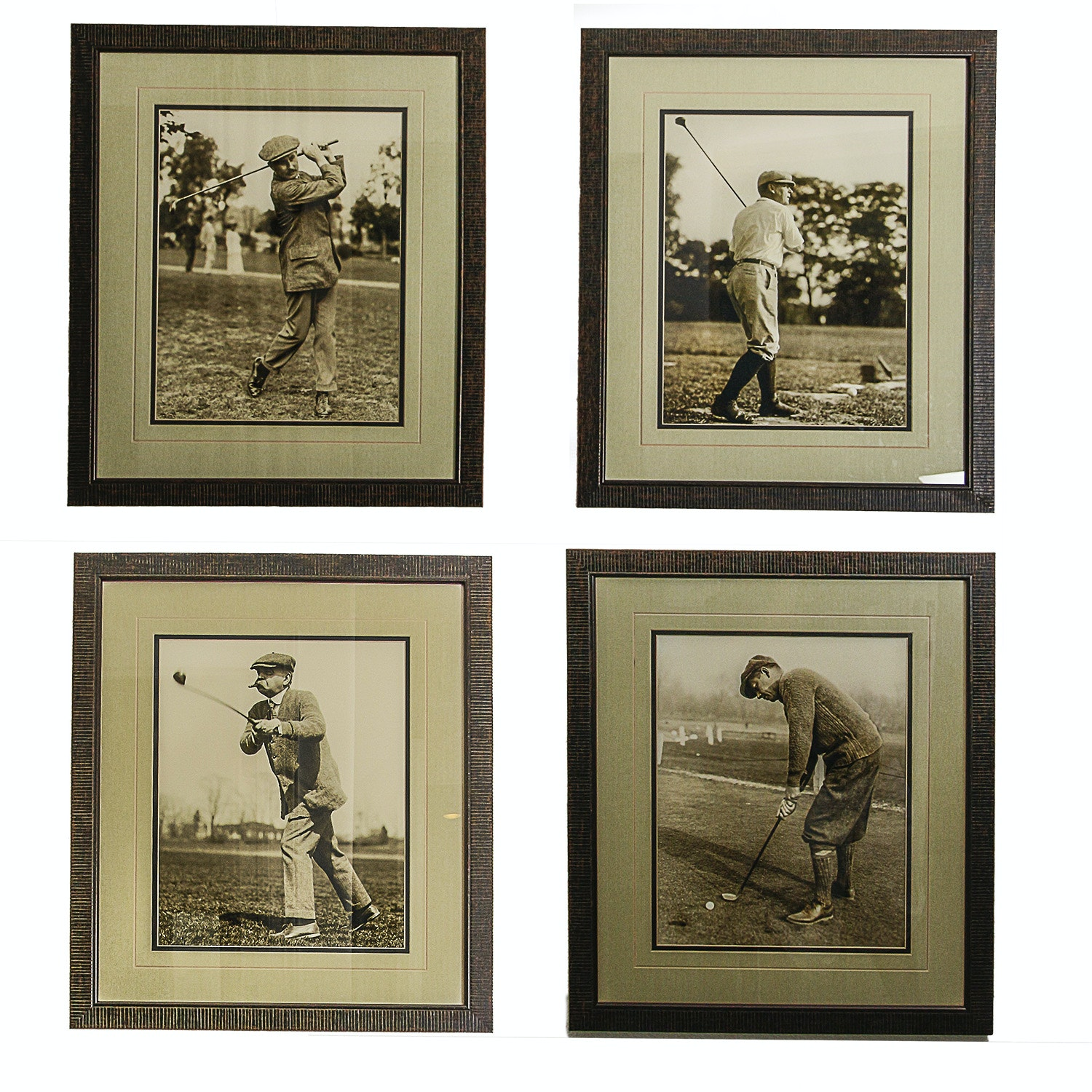 Black and White Prints of Golfers Including Senator William Saulsbury