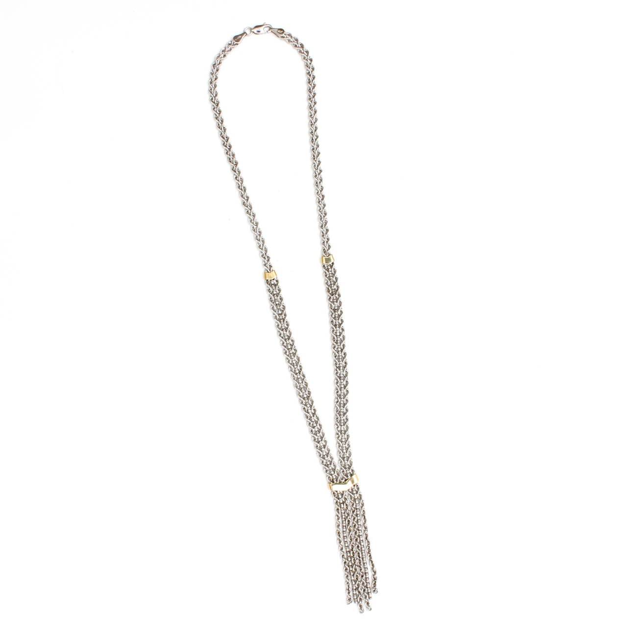 Michael Anthony Sterling Silver and 10K Yellow Gold Necklace