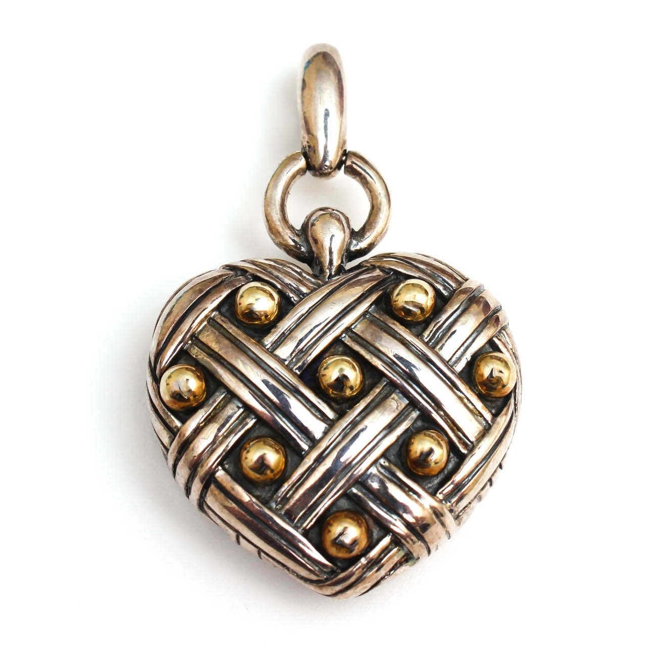 Ann King Sterling Silver and 18K Yellow Gold Heart Pendant