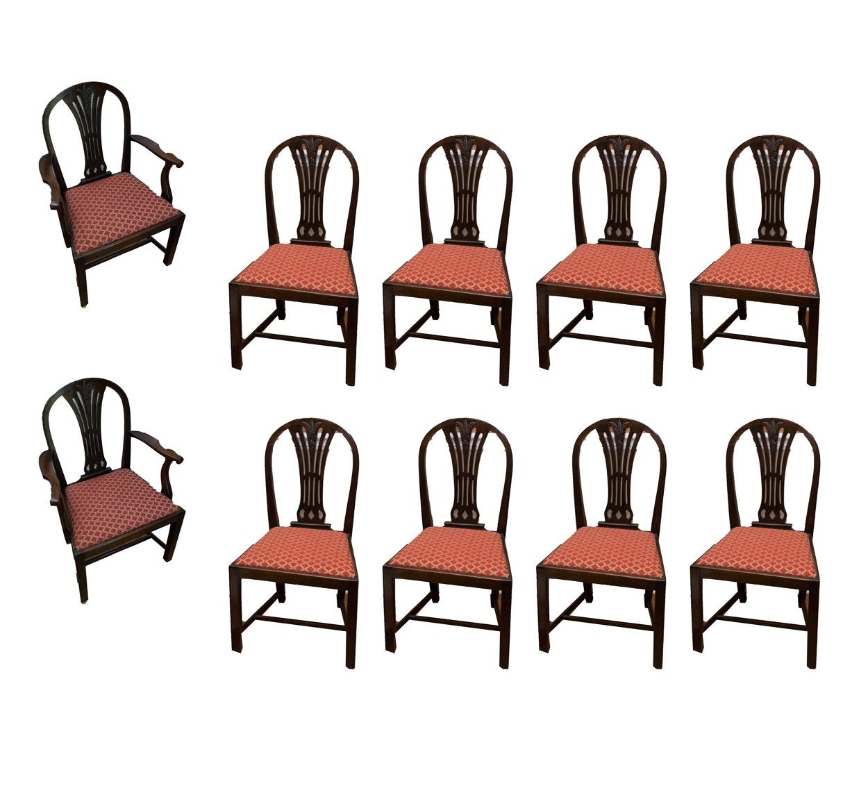 Vintage Mahogany Wheatsheaf Dining Chairs