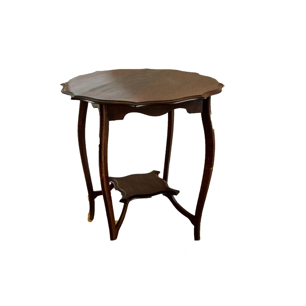 Antique Piecrust Tea Table