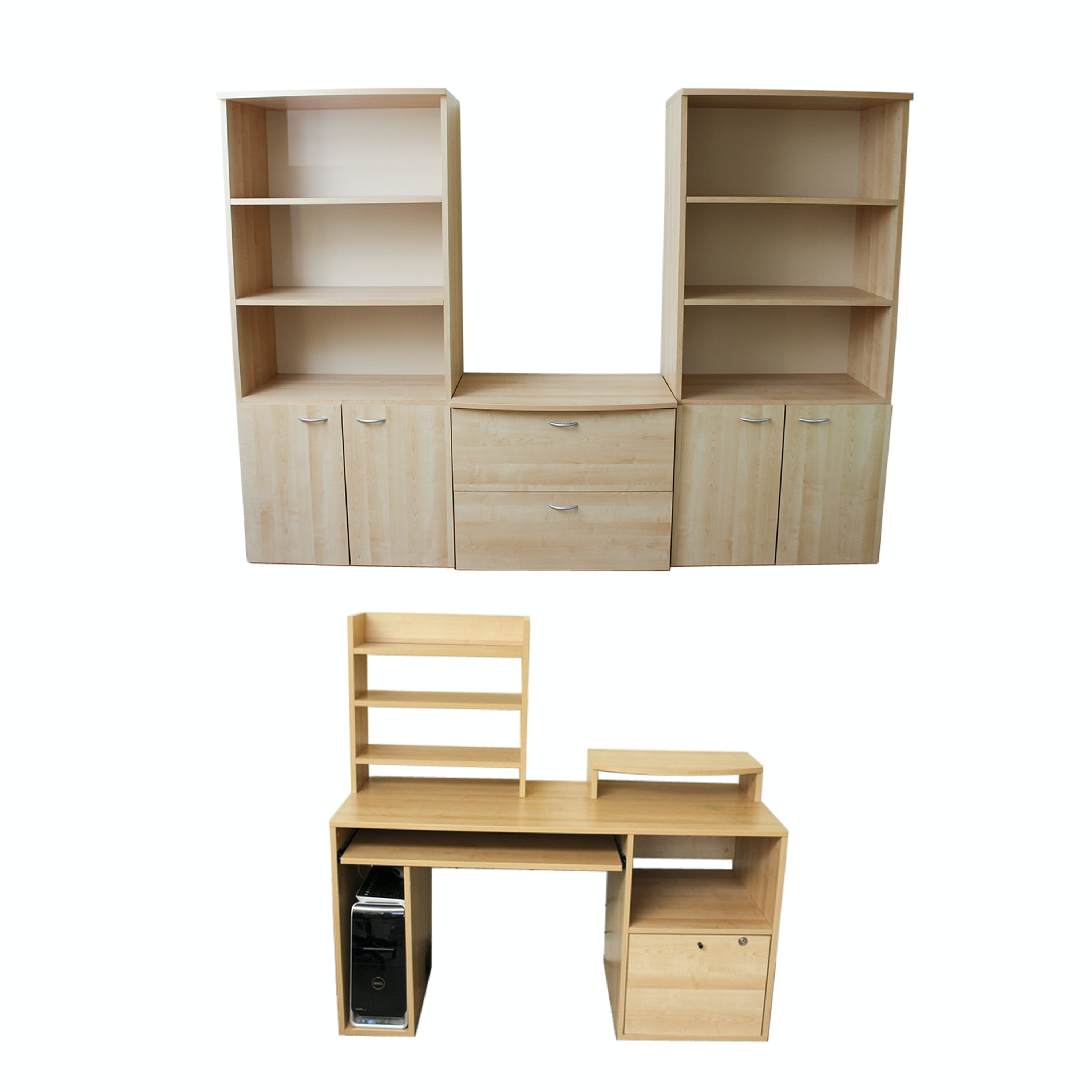 Contemporary Melamine Office Set