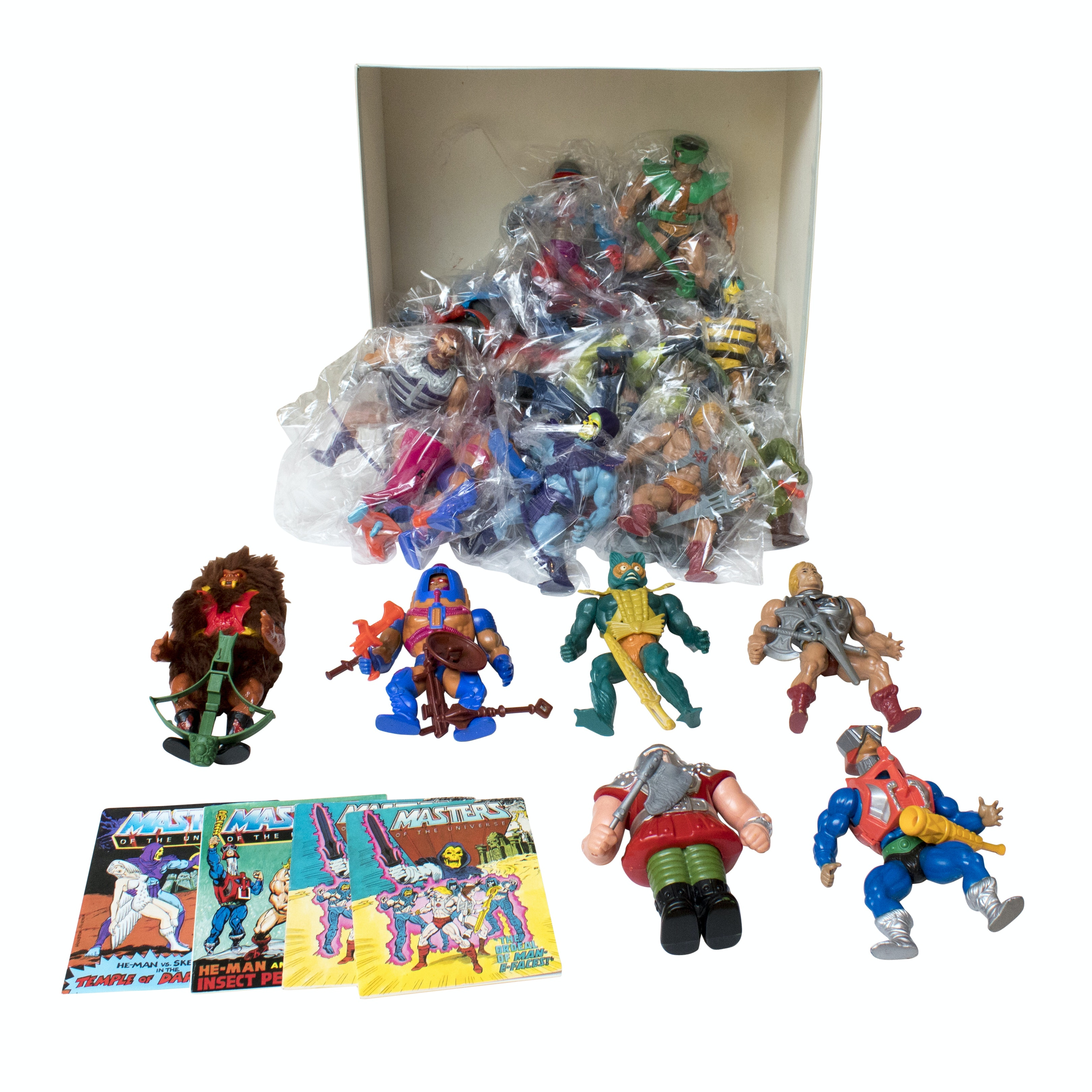 Vintage 1980s Masters of the Universe He-Man Figures and Toys