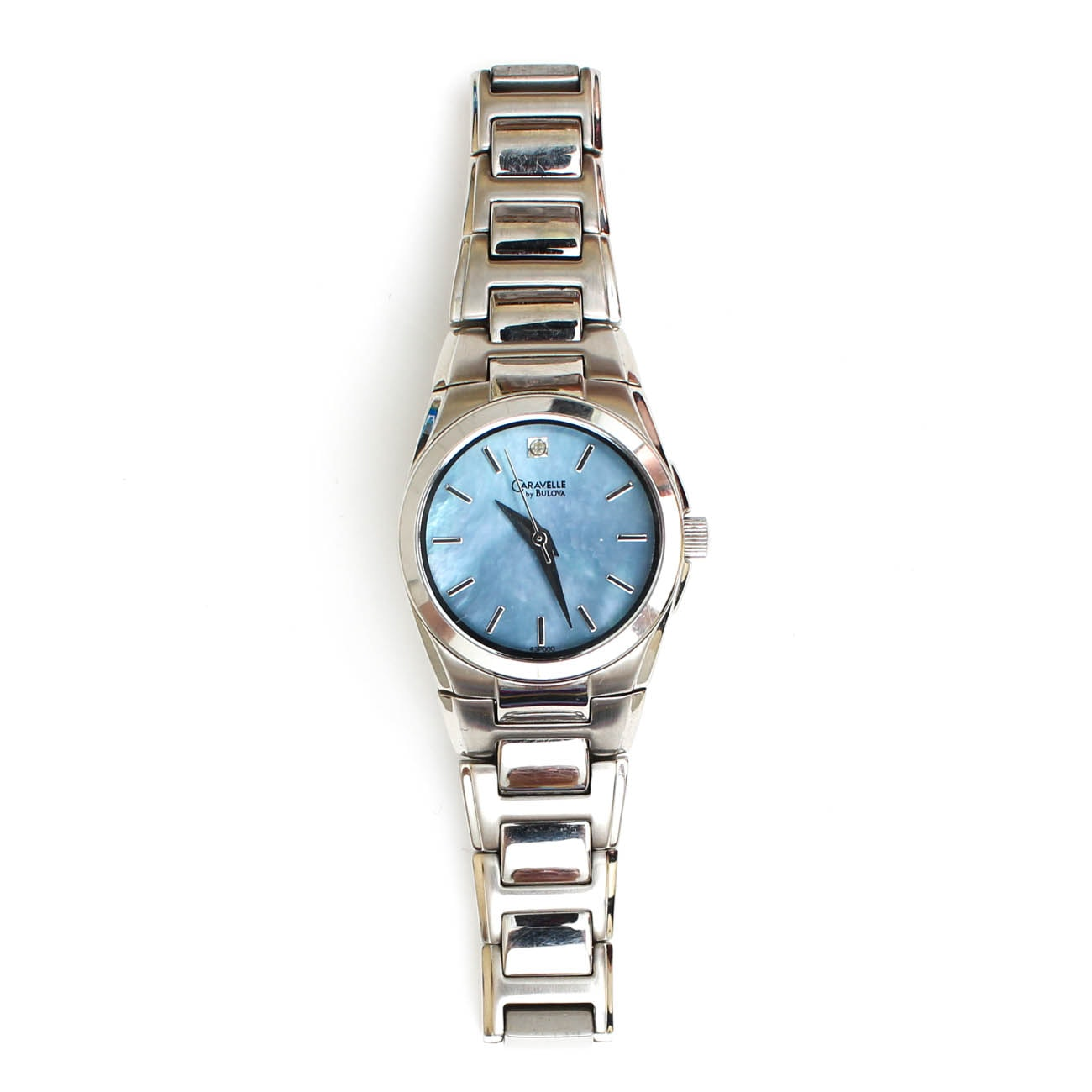 Bulova Mother of Pearl and Diamond Wristwatch