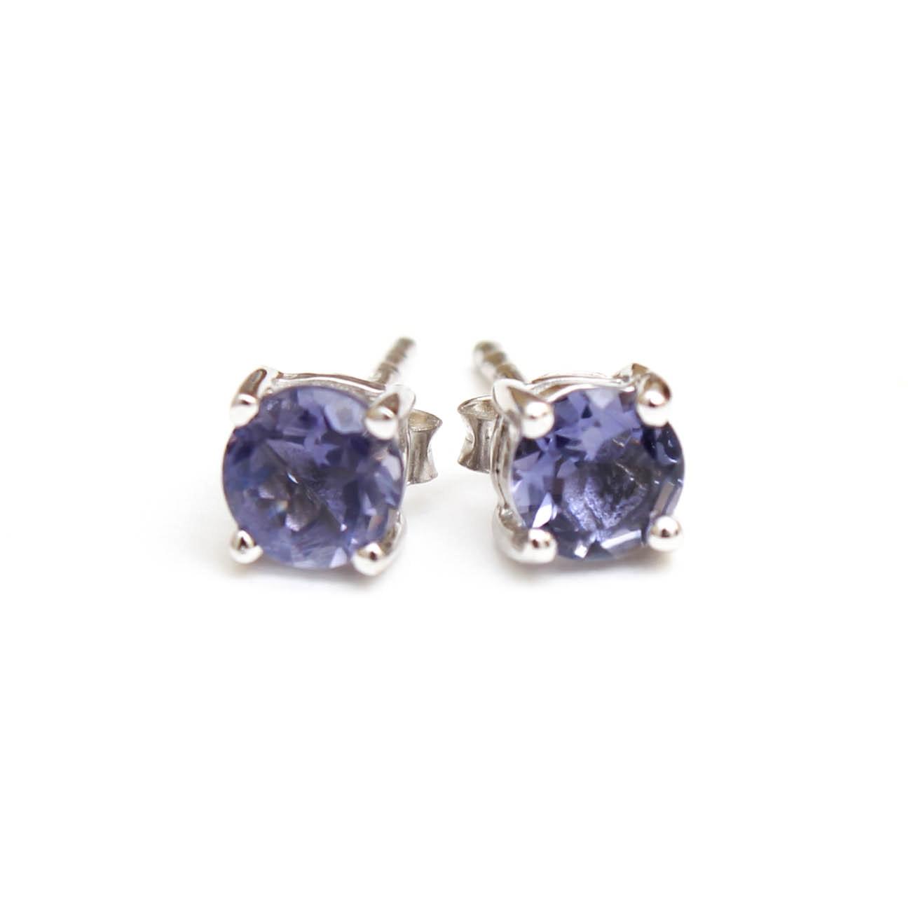 Sterling Silver Iolite Stud Earrings
